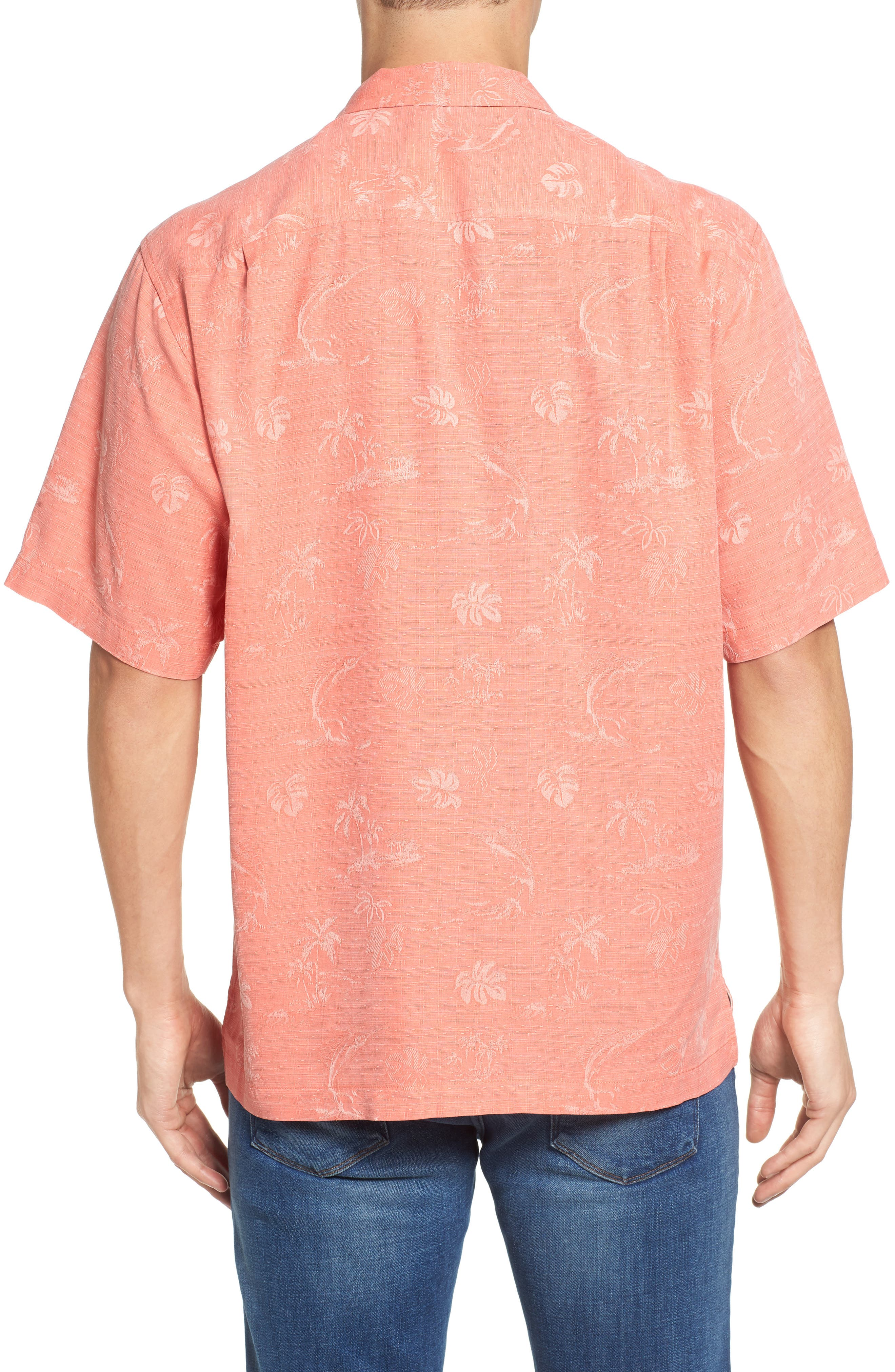 Gulf Shore Marlin Silk Camp Shirt,                             Alternate thumbnail 10, color,