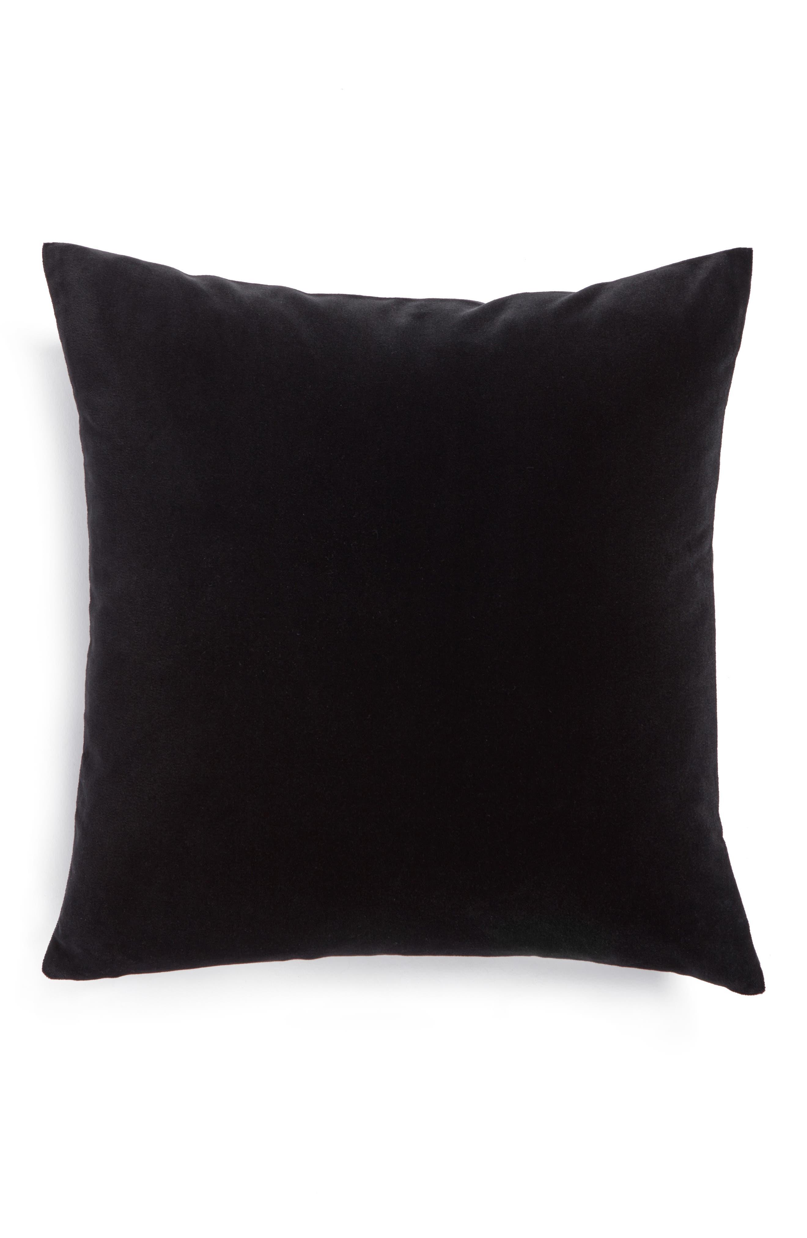 Lucerne Velvet Pillow,                             Main thumbnail 1, color,                             001