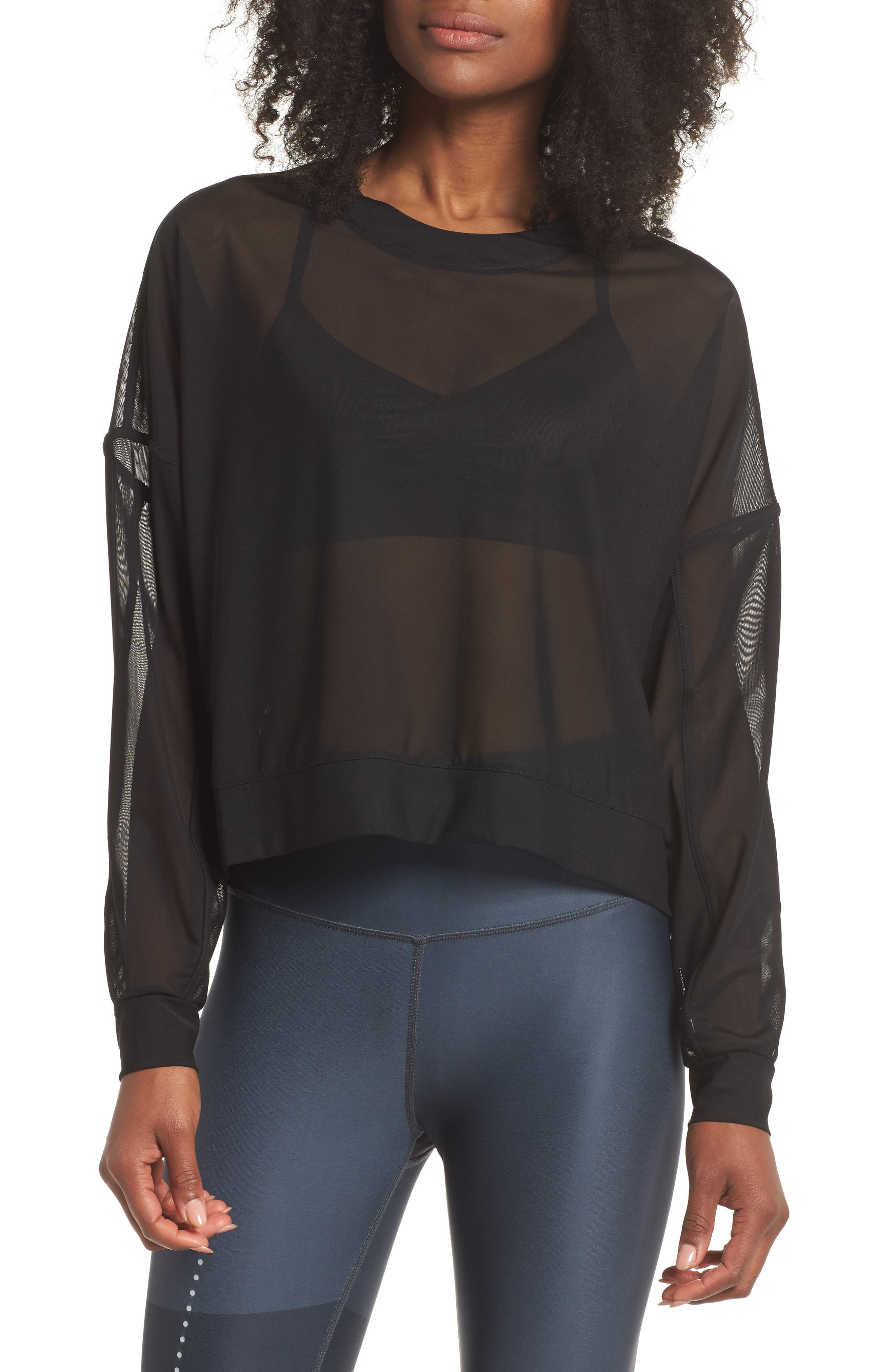 Ambiance Sheer Pullover,                         Main,                         color, 010