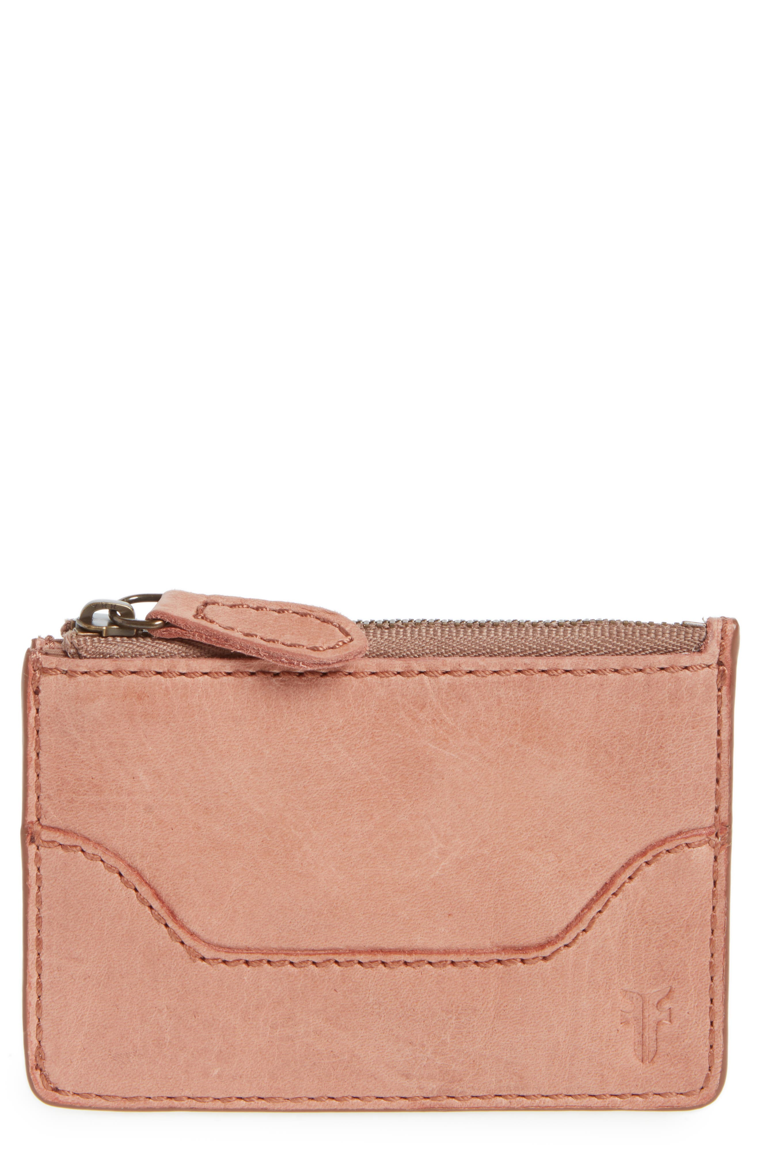 Melissa Leather Card Holder with Key Ring,                             Main thumbnail 4, color,