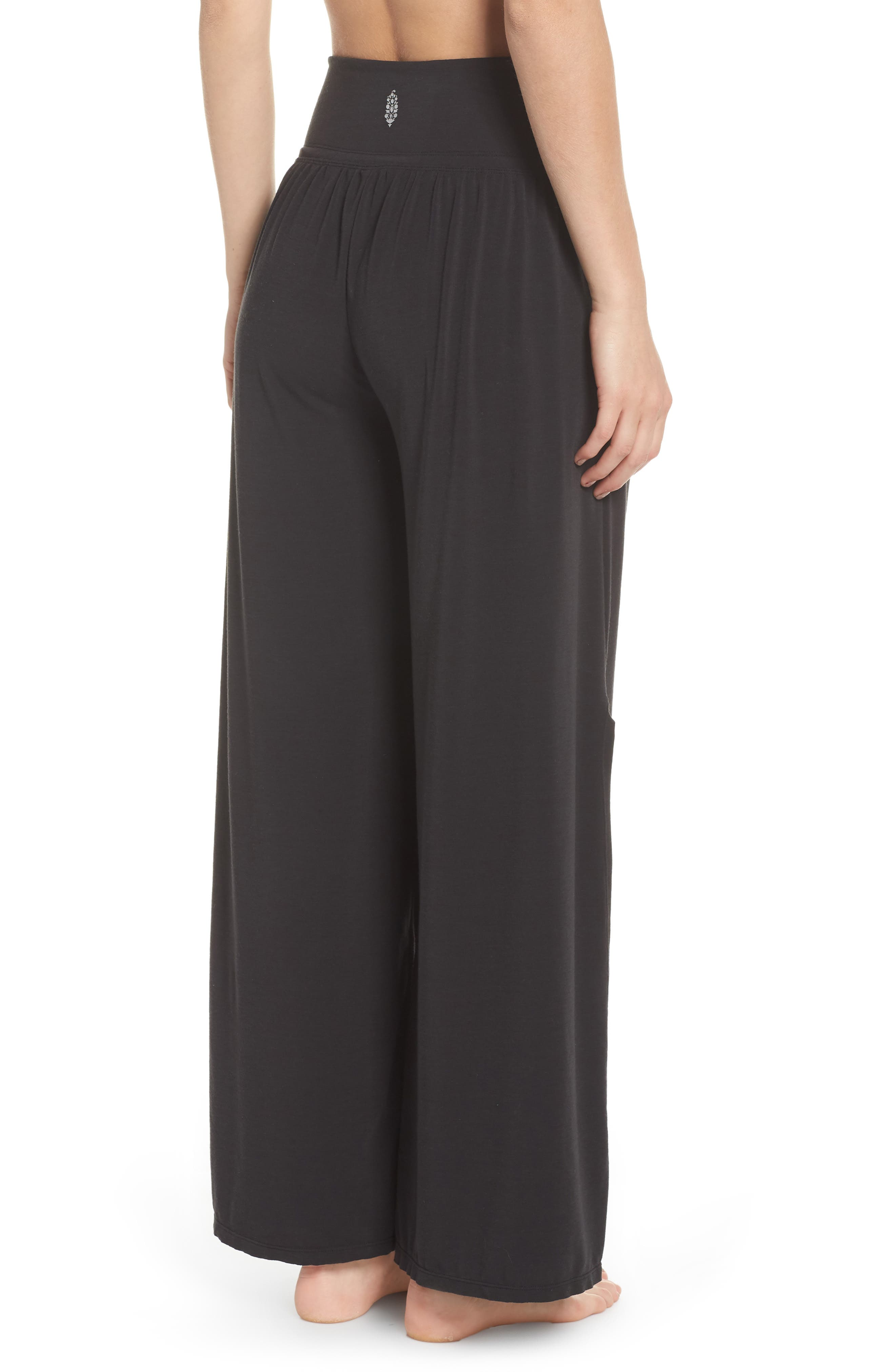 Easy Breezy Wide Leg Cover-Up Pants,                             Alternate thumbnail 2, color,                             BLACK