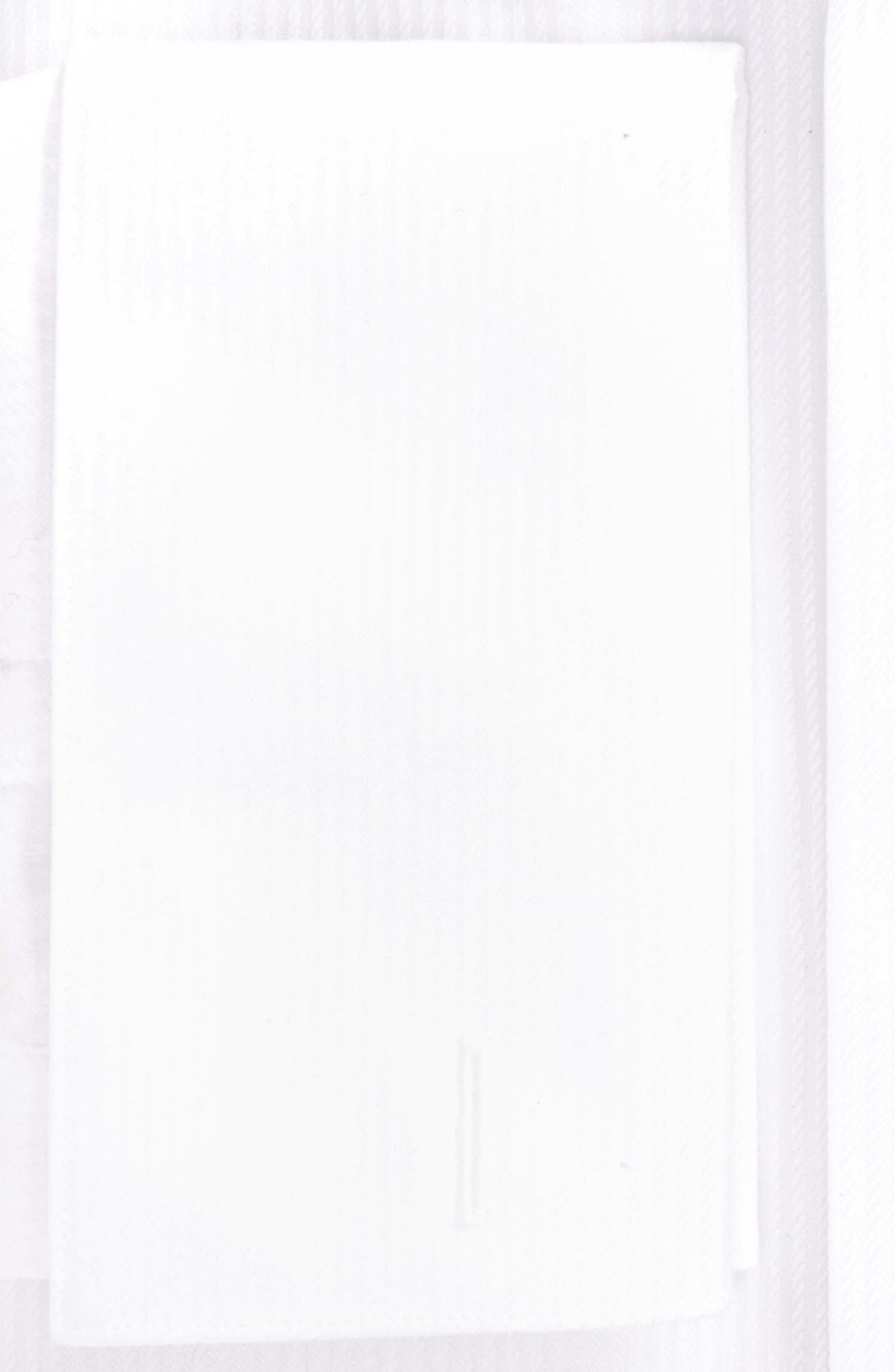 Trim Fit Stripe Tuxedo Shirt,                             Alternate thumbnail 2, color,                             100