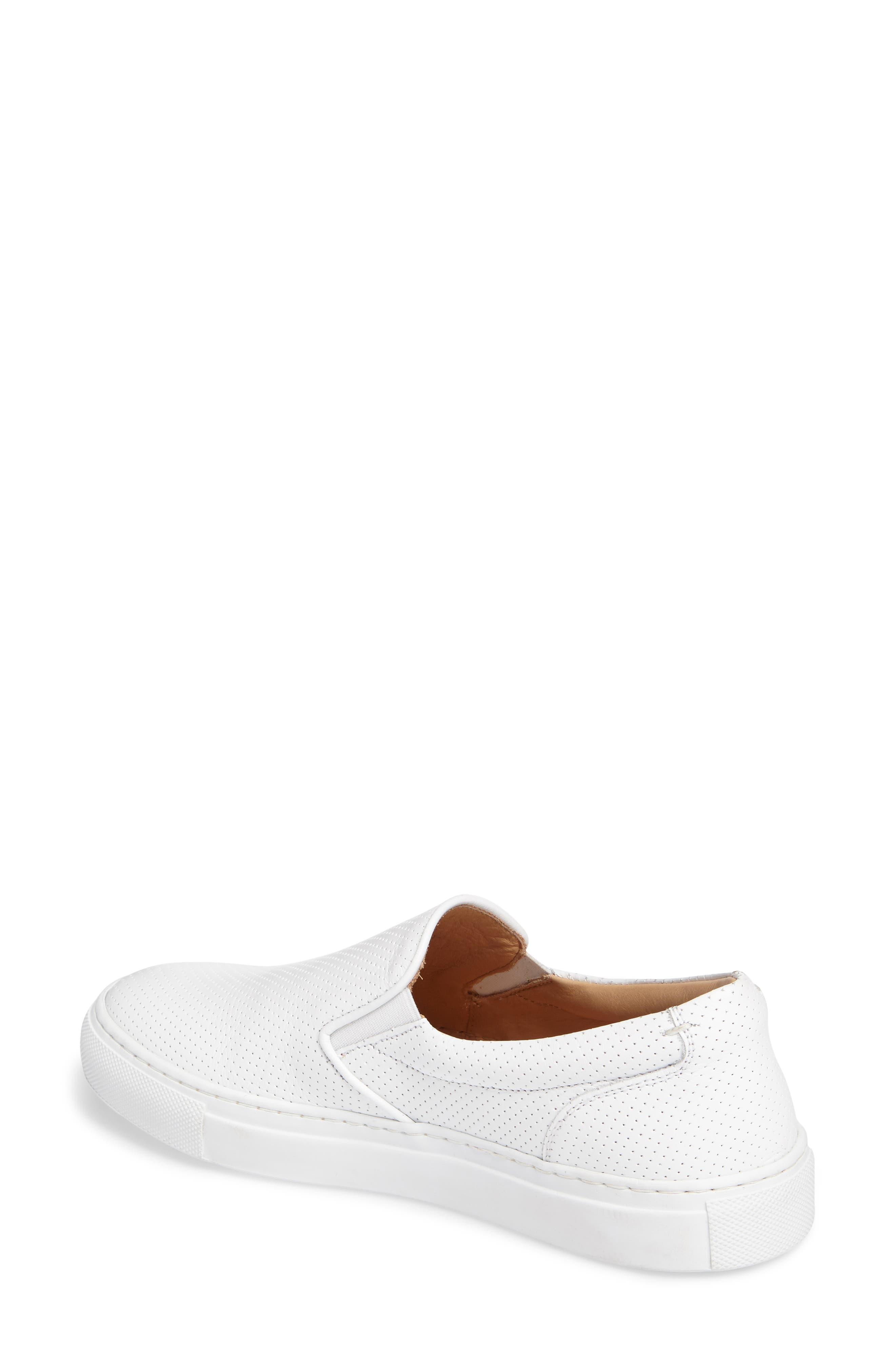 Wooster Slip-On Sneaker,                             Alternate thumbnail 2, color,                             WHITE PERFORATED