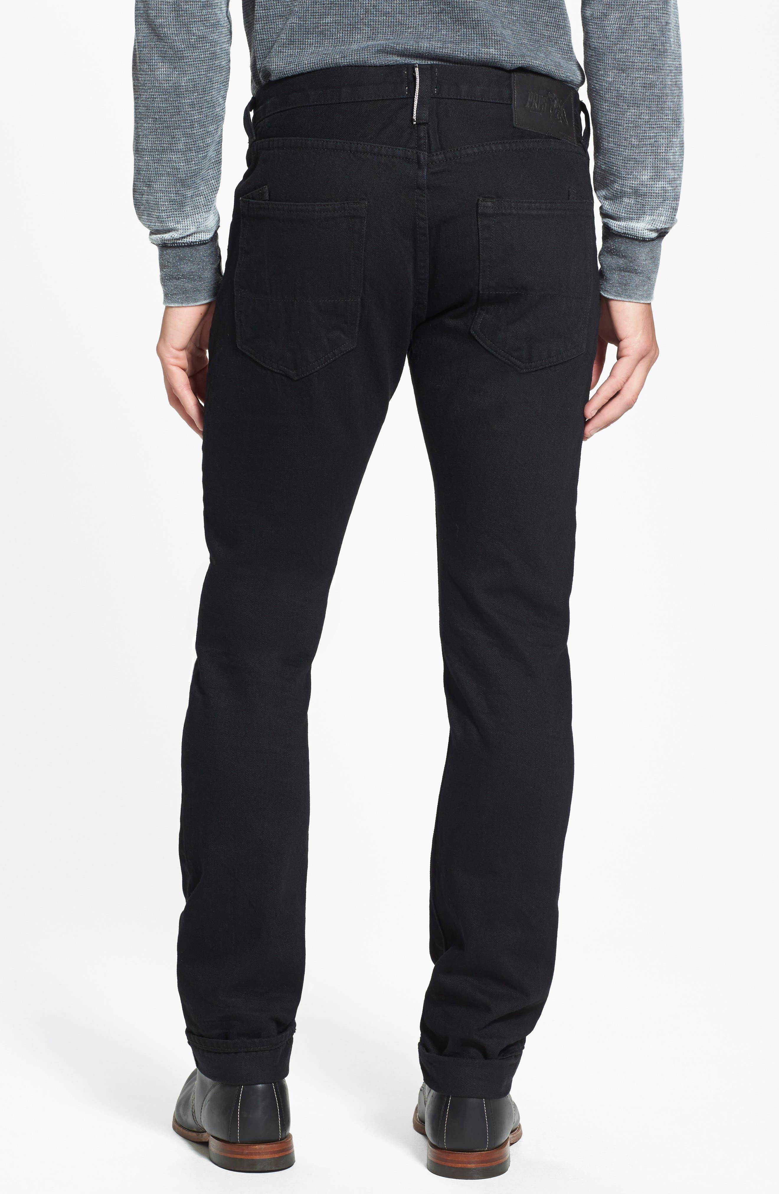 'Demon' Slim Straight Leg Selvedge Jeans,                             Alternate thumbnail 4, color,                             013