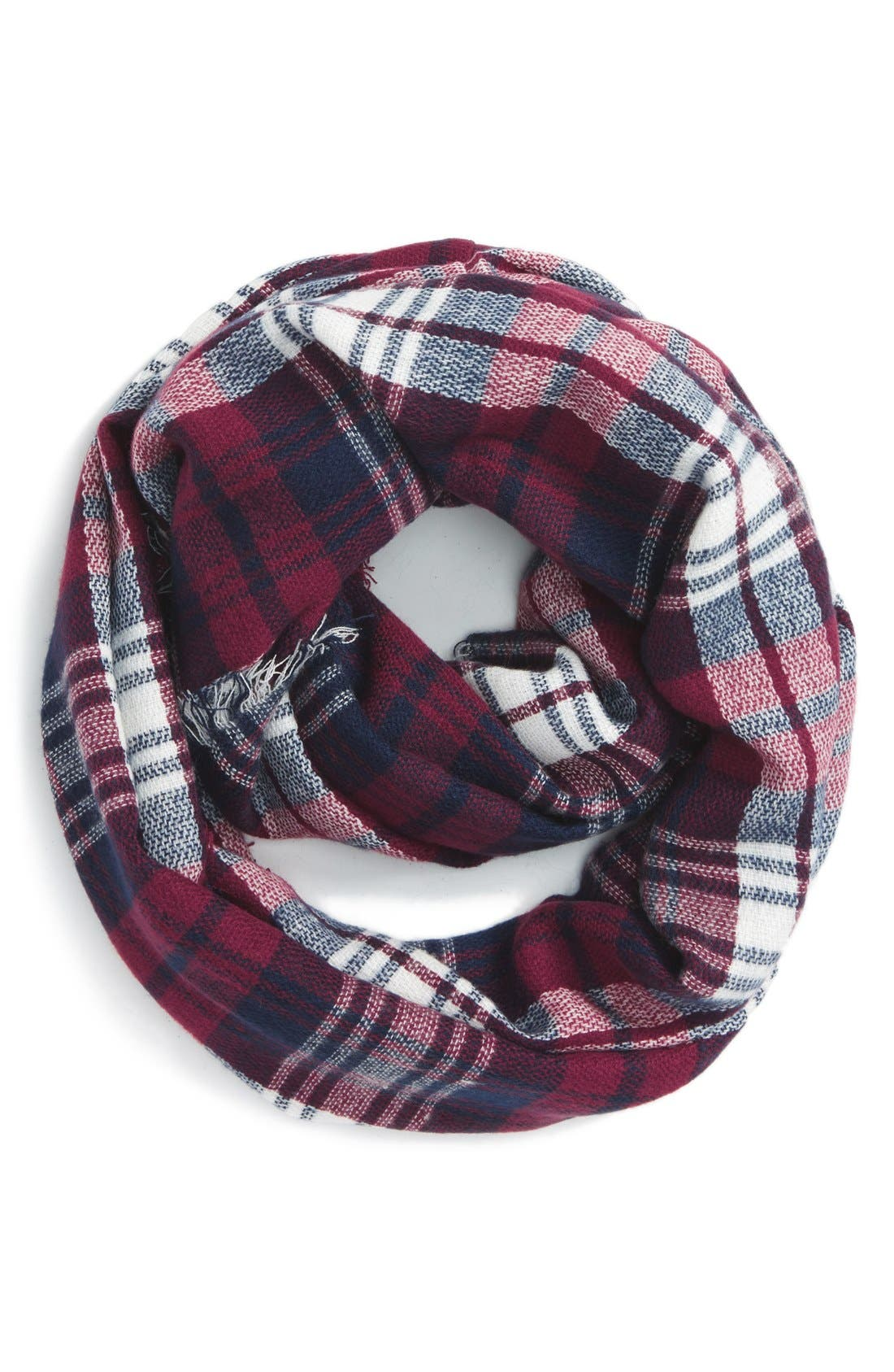 'Heritage' Plaid Infinity Scarf,                             Main thumbnail 6, color,