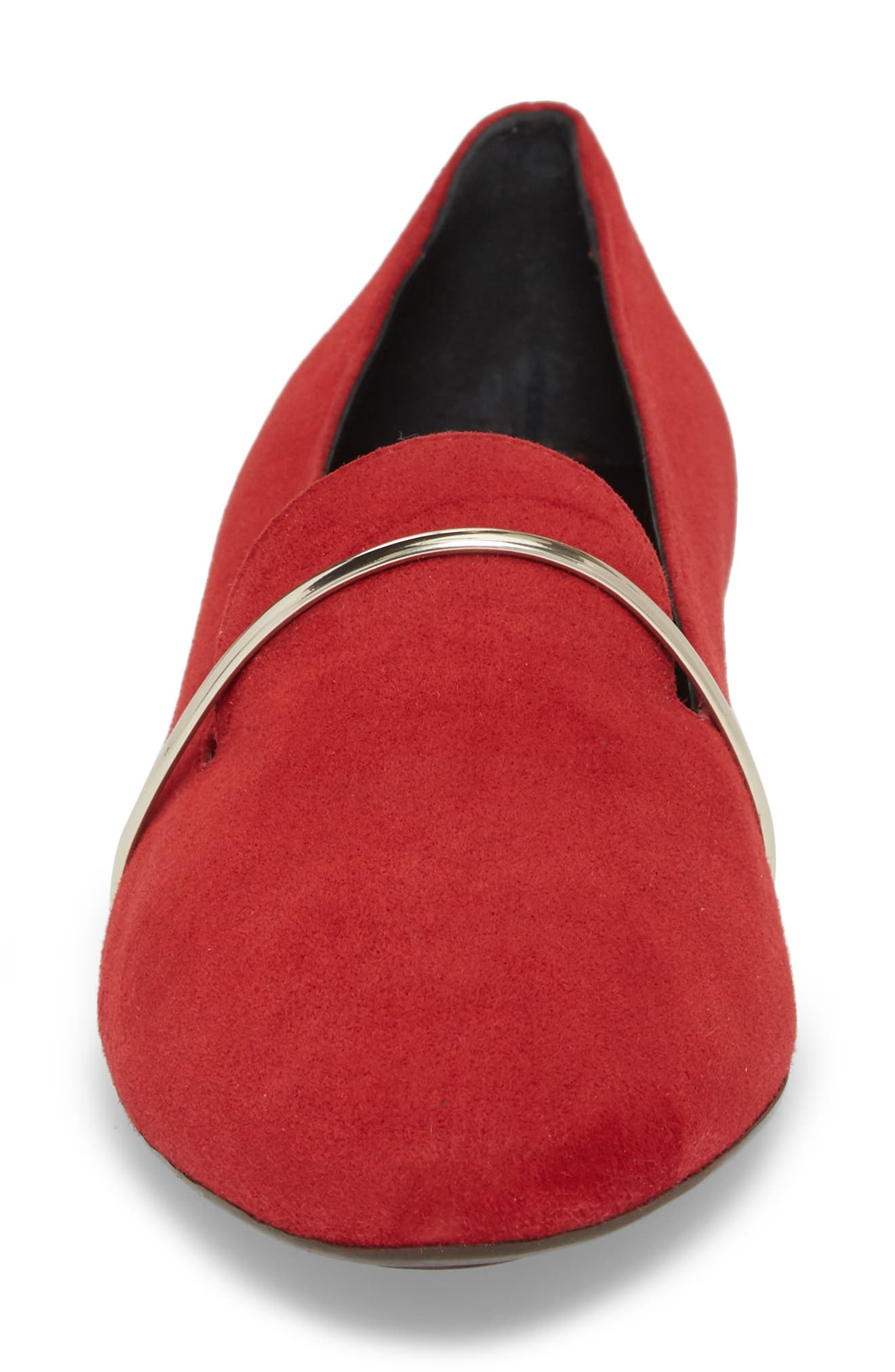 Smoking Slipper,                             Alternate thumbnail 4, color,                             RED SUEDE