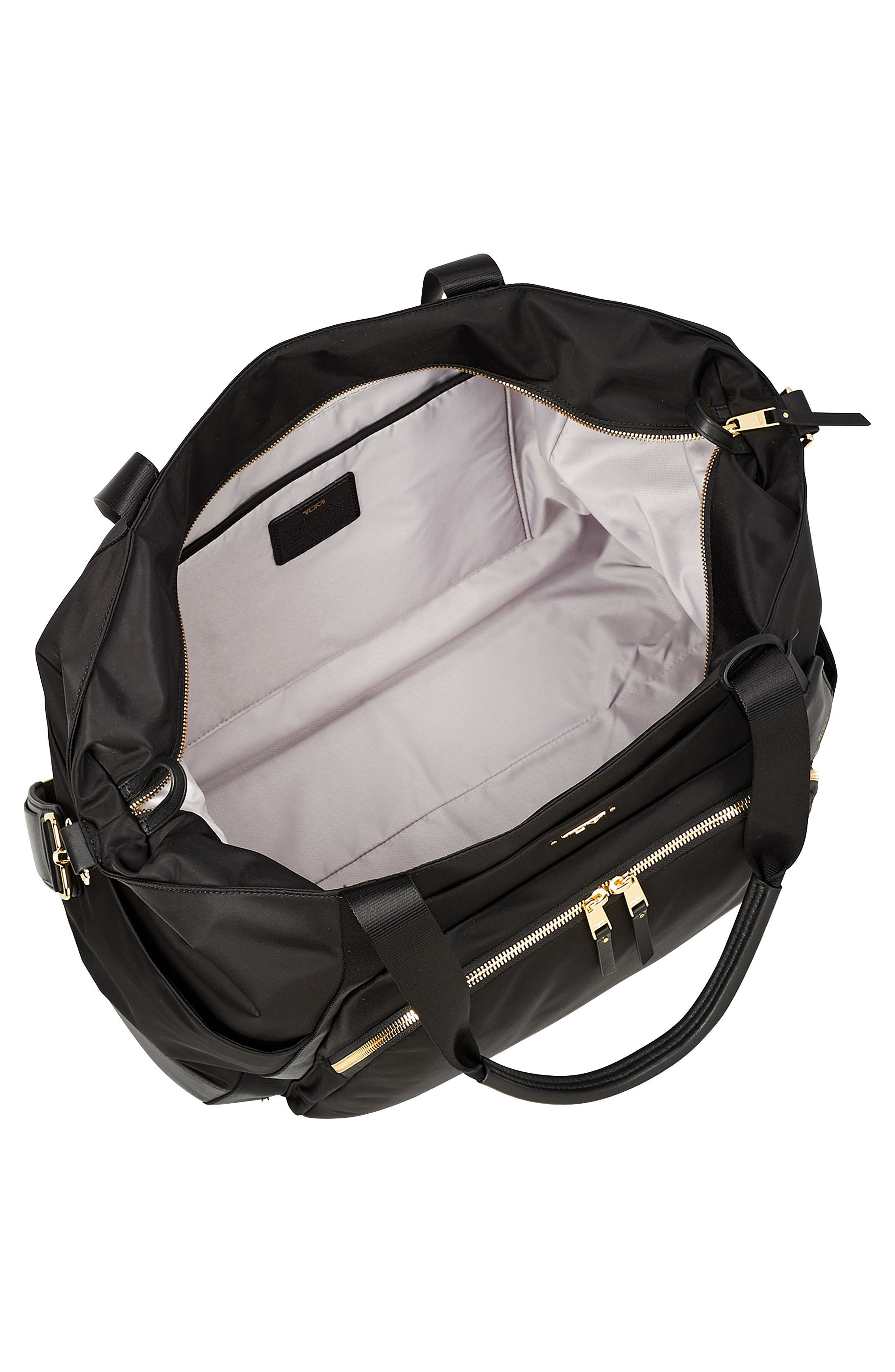 Voyaguer - Madrid Nylon Duffel Bag,                             Alternate thumbnail 3, color,                             BLACK