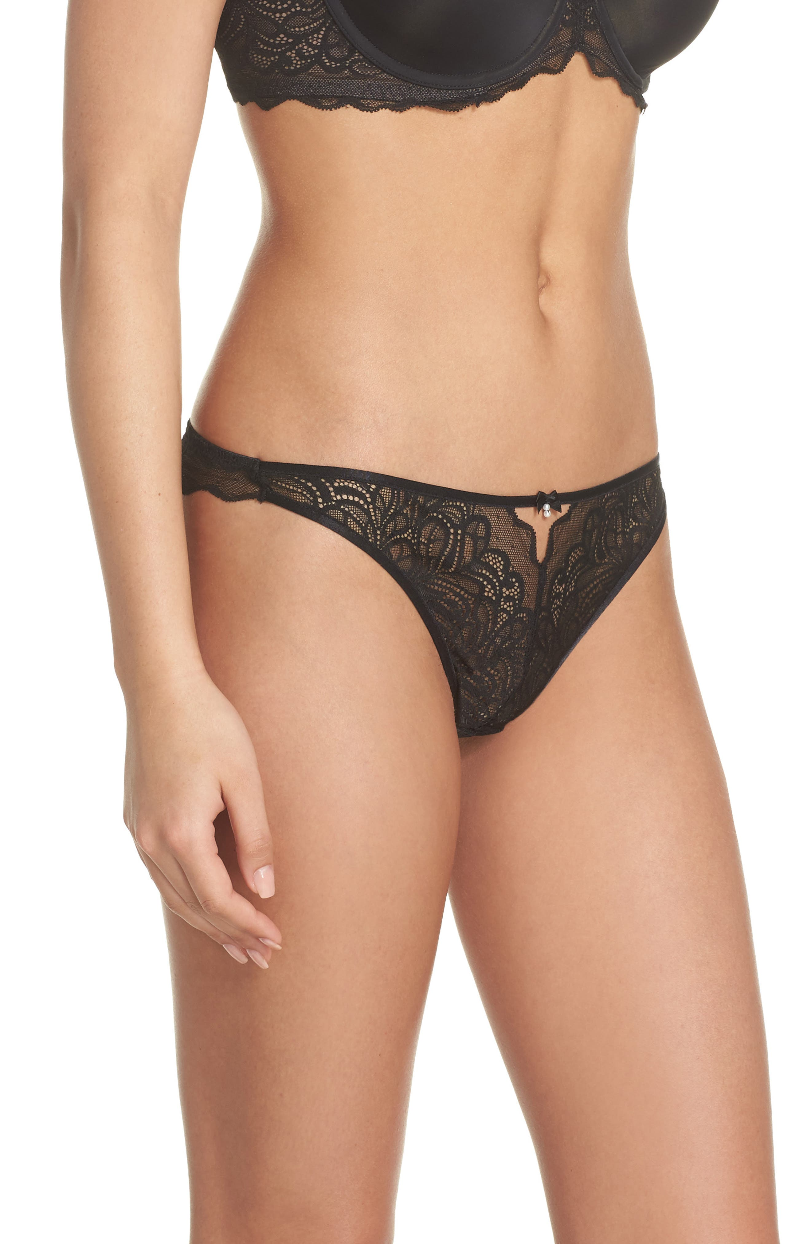 Lace Thong,                             Alternate thumbnail 3, color,                             004
