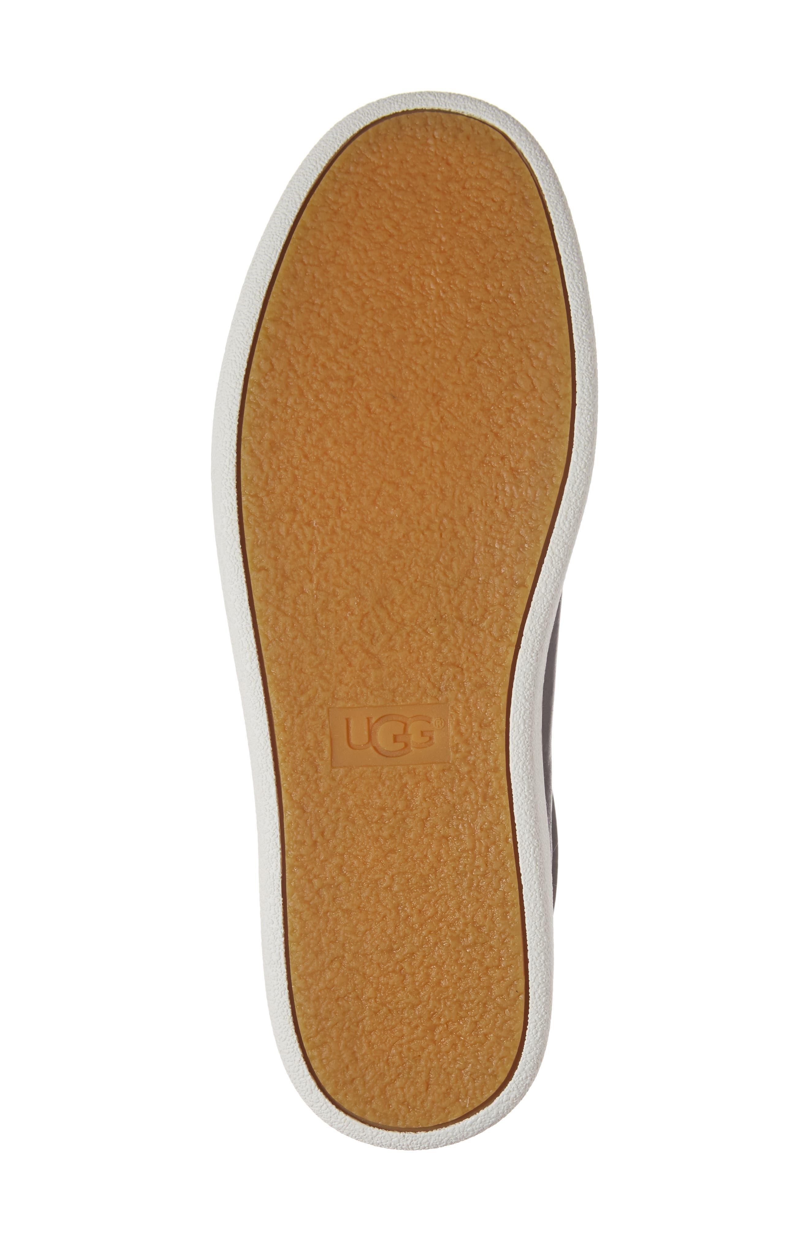 Milo Sneaker,                             Alternate thumbnail 6, color,                             BLACK LEATHER