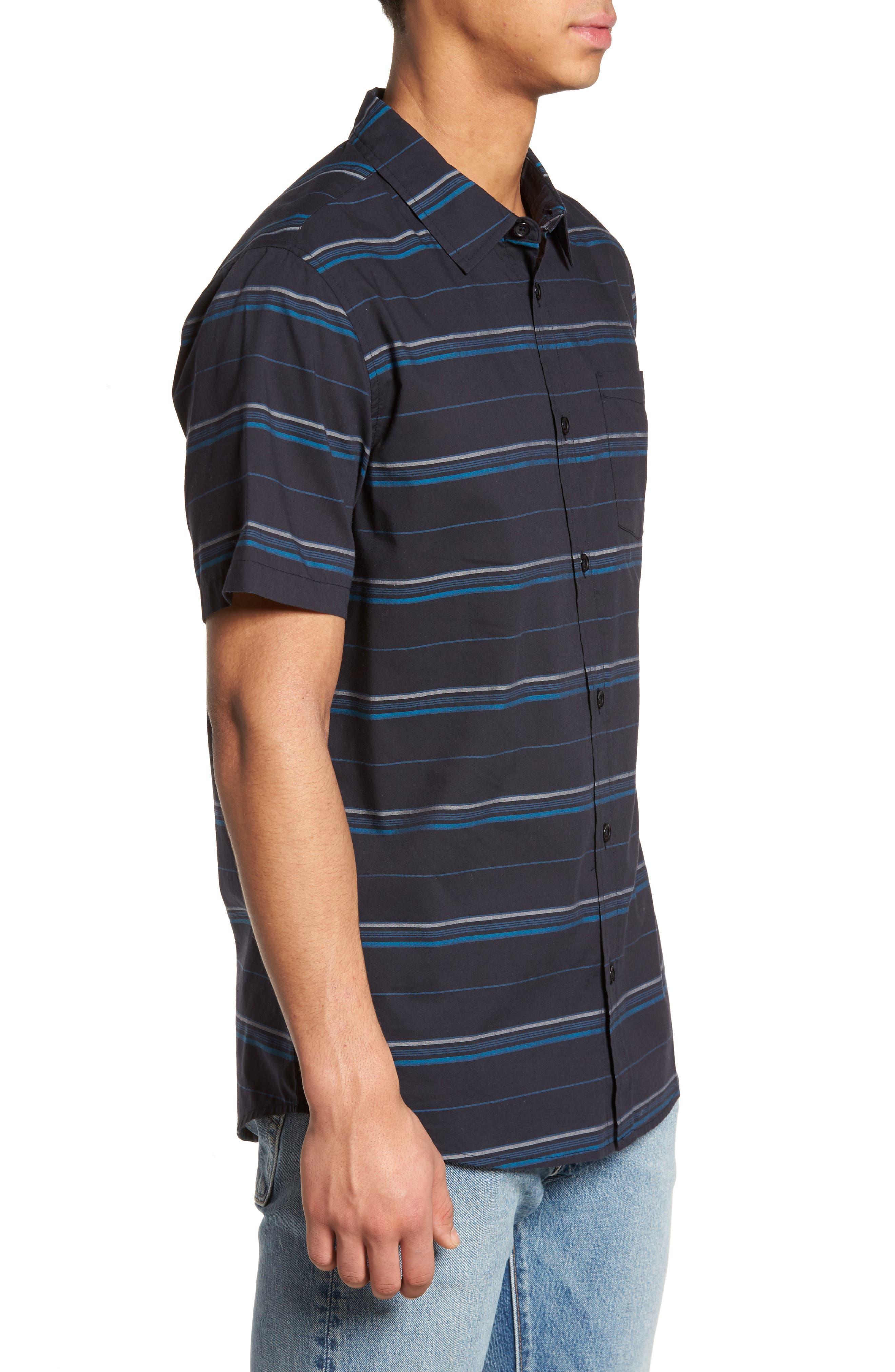 Striped Woven Shirt,                             Alternate thumbnail 3, color,                             410