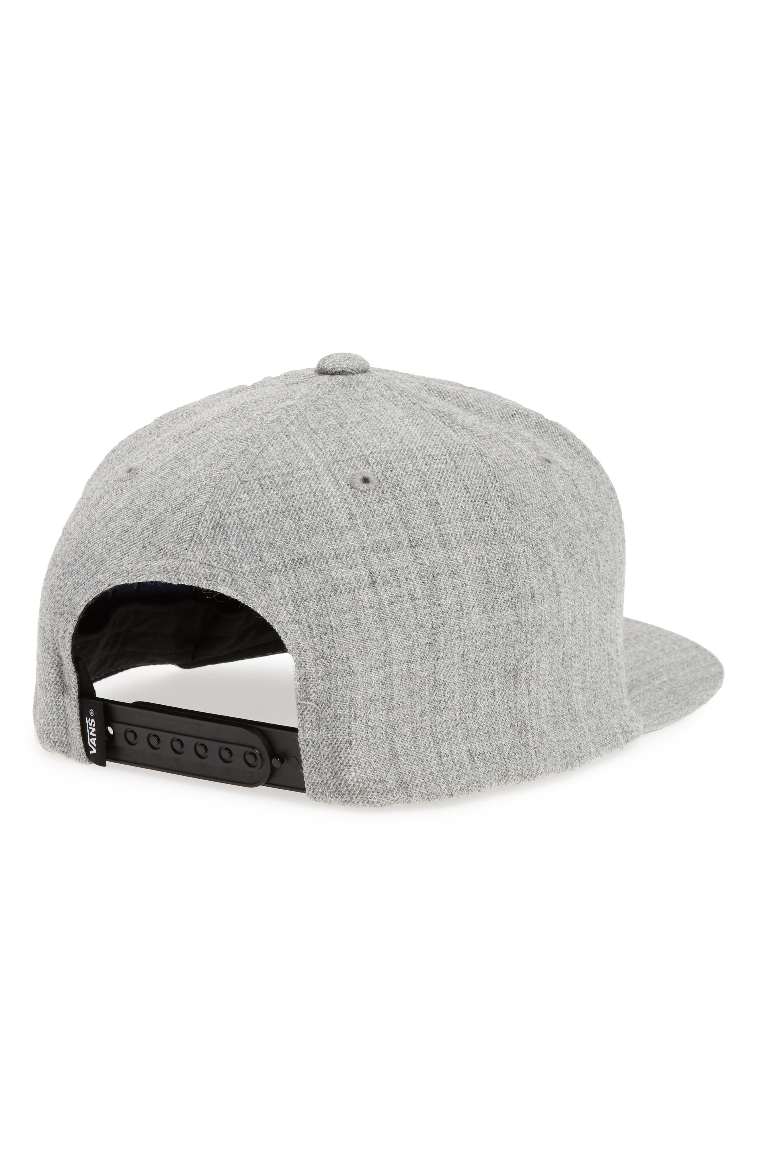 'Full Patch' Snapback Hat,                             Alternate thumbnail 2, color,                             HEATHER GREY