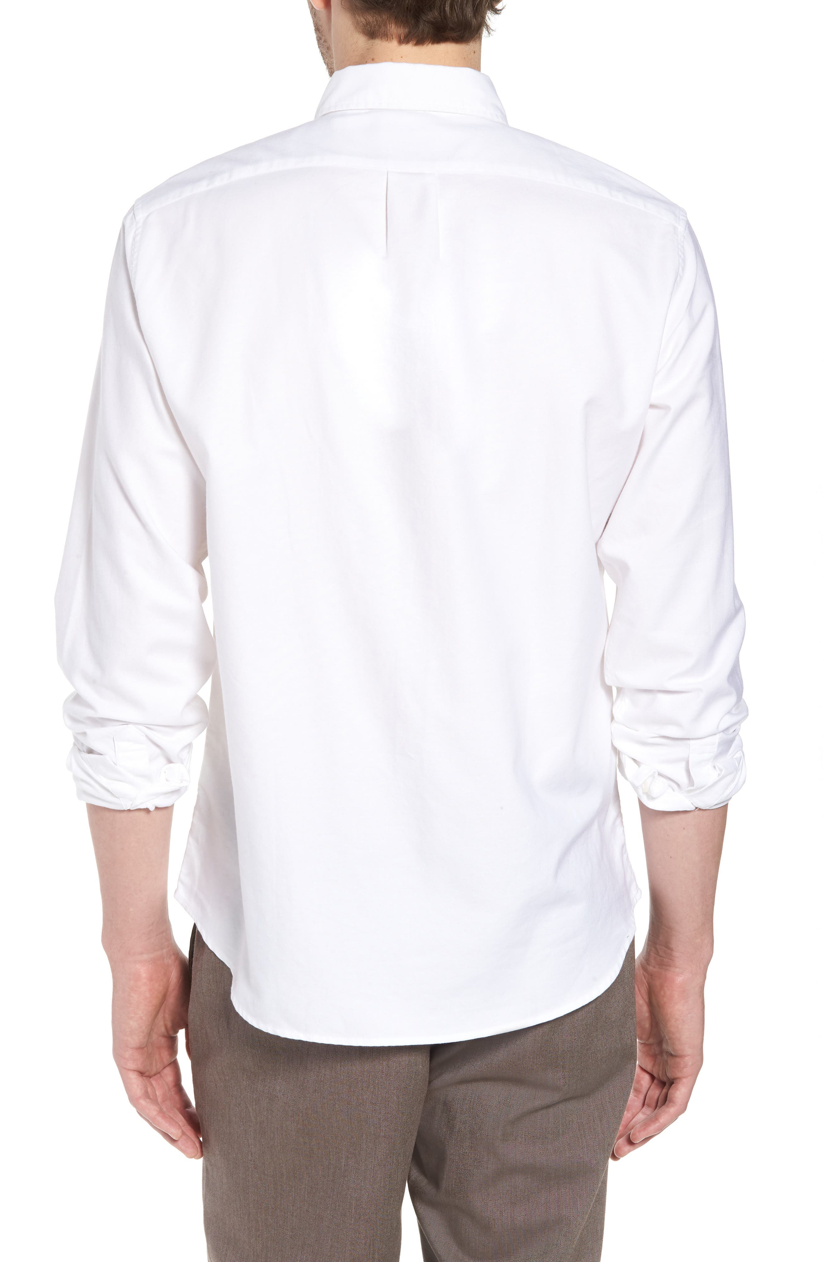 Slim Fit Stretch Pima Cotton Oxford Shirt,                             Alternate thumbnail 6, color,
