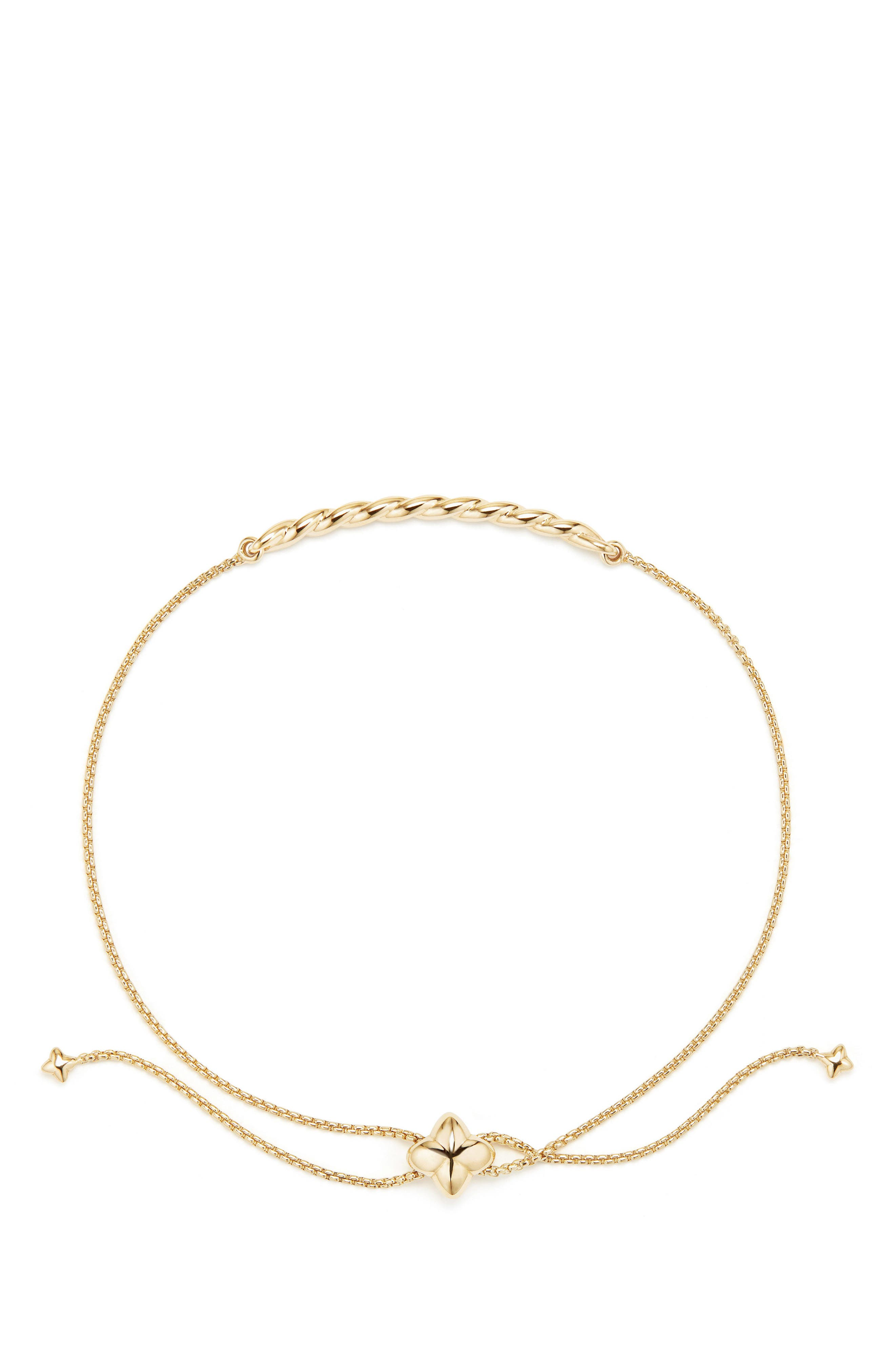 Paveflex Station Bracelet in 18K Gold,                             Alternate thumbnail 2, color,                             YELLOW GOLD