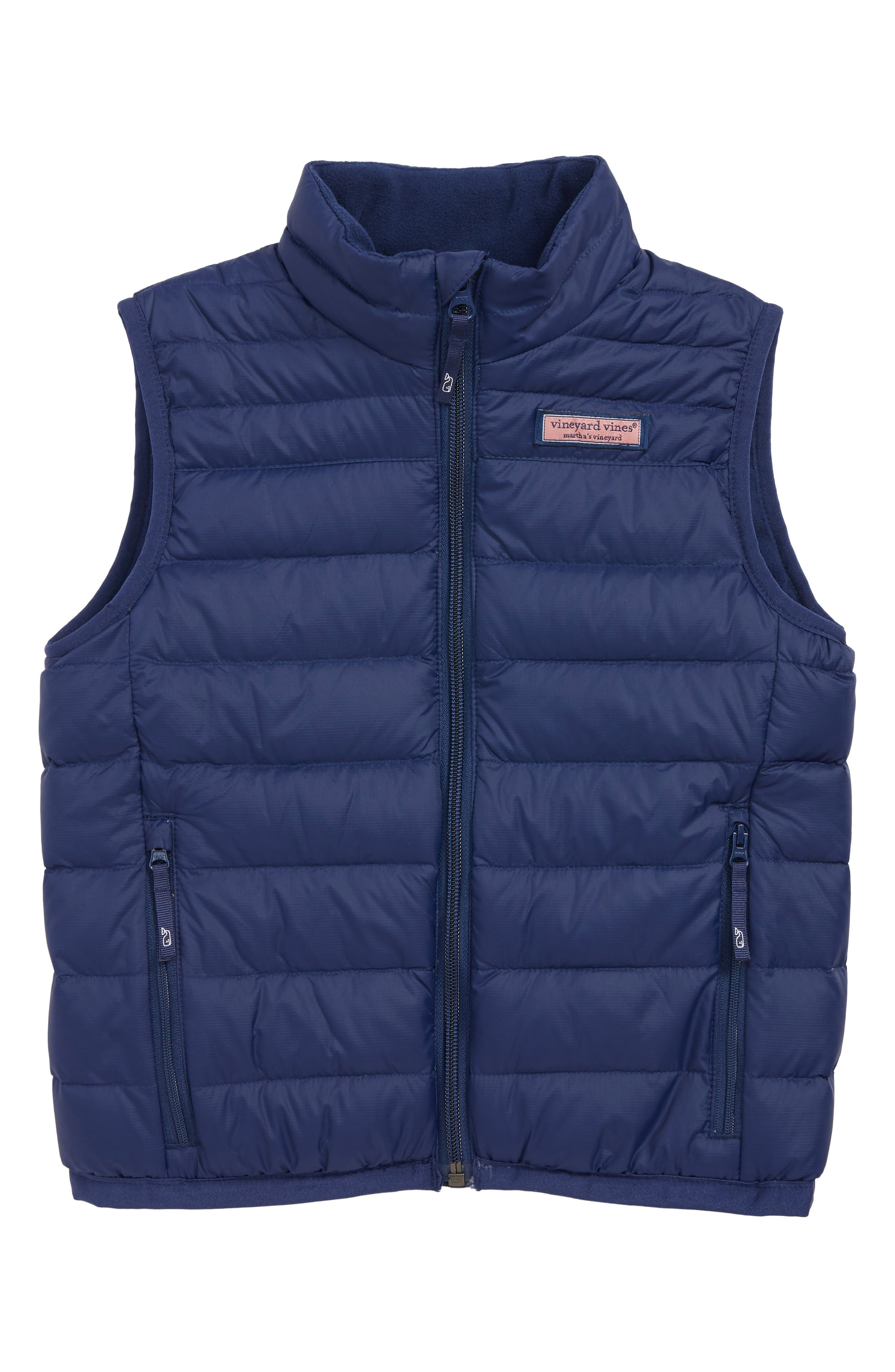 Mountain Weekend Down Vest,                             Main thumbnail 1, color,                             DEEP BAY