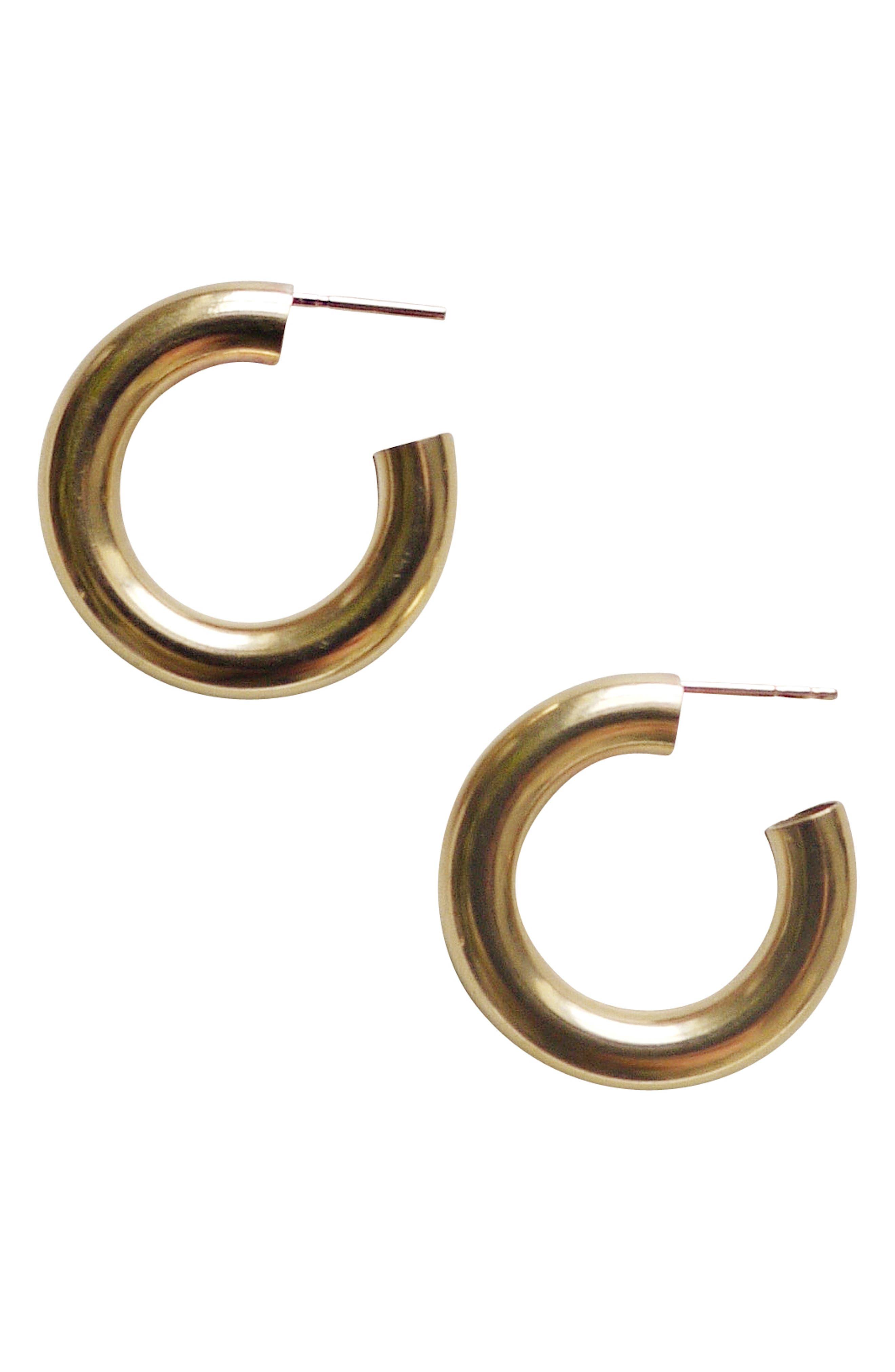 Medium Hoop Earrings,                             Main thumbnail 1, color,                             710