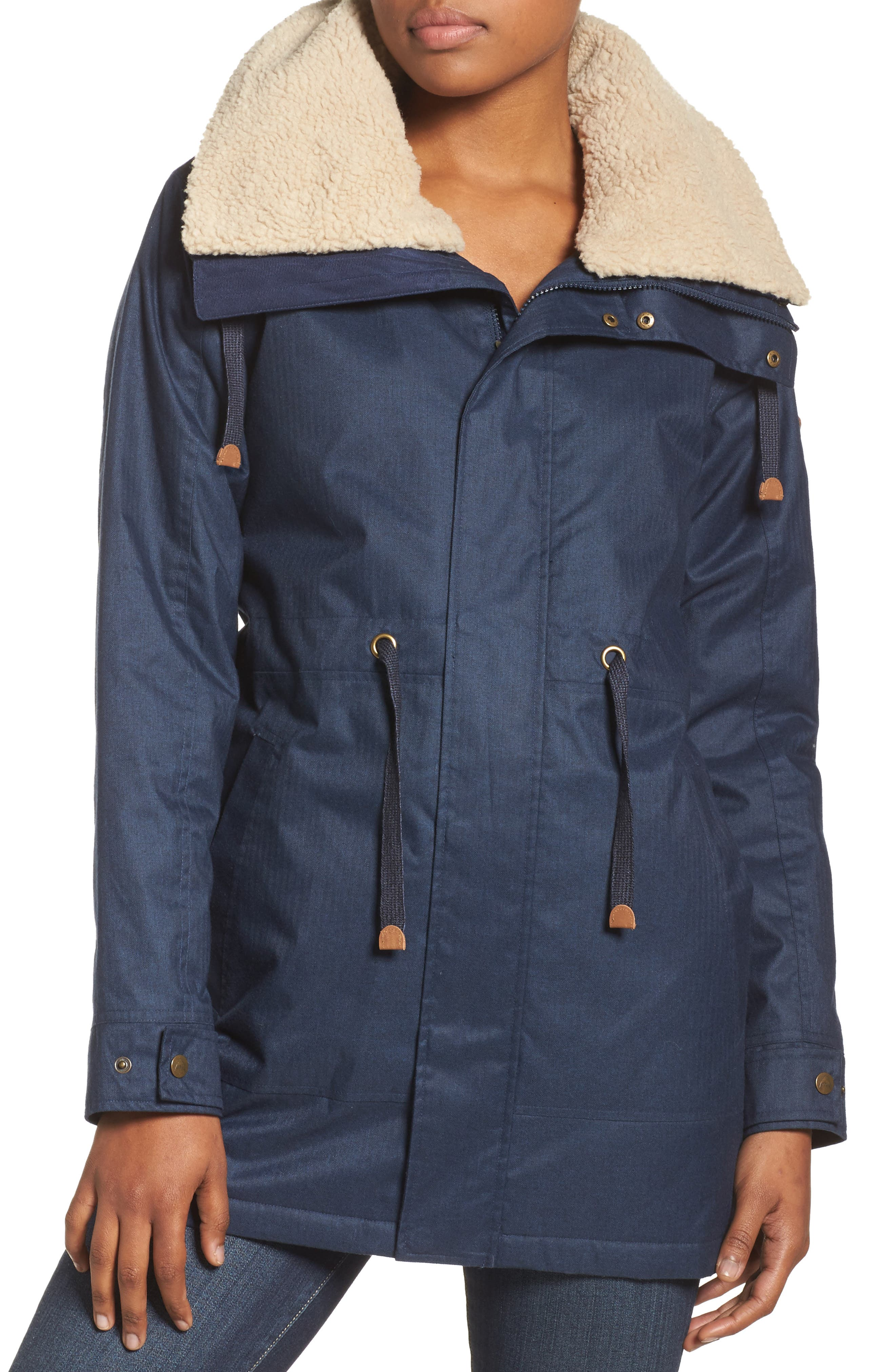 Hazelton Water-Resistant Hooded Jacket with Removable Fleece Lining,                         Main,                         color, 400