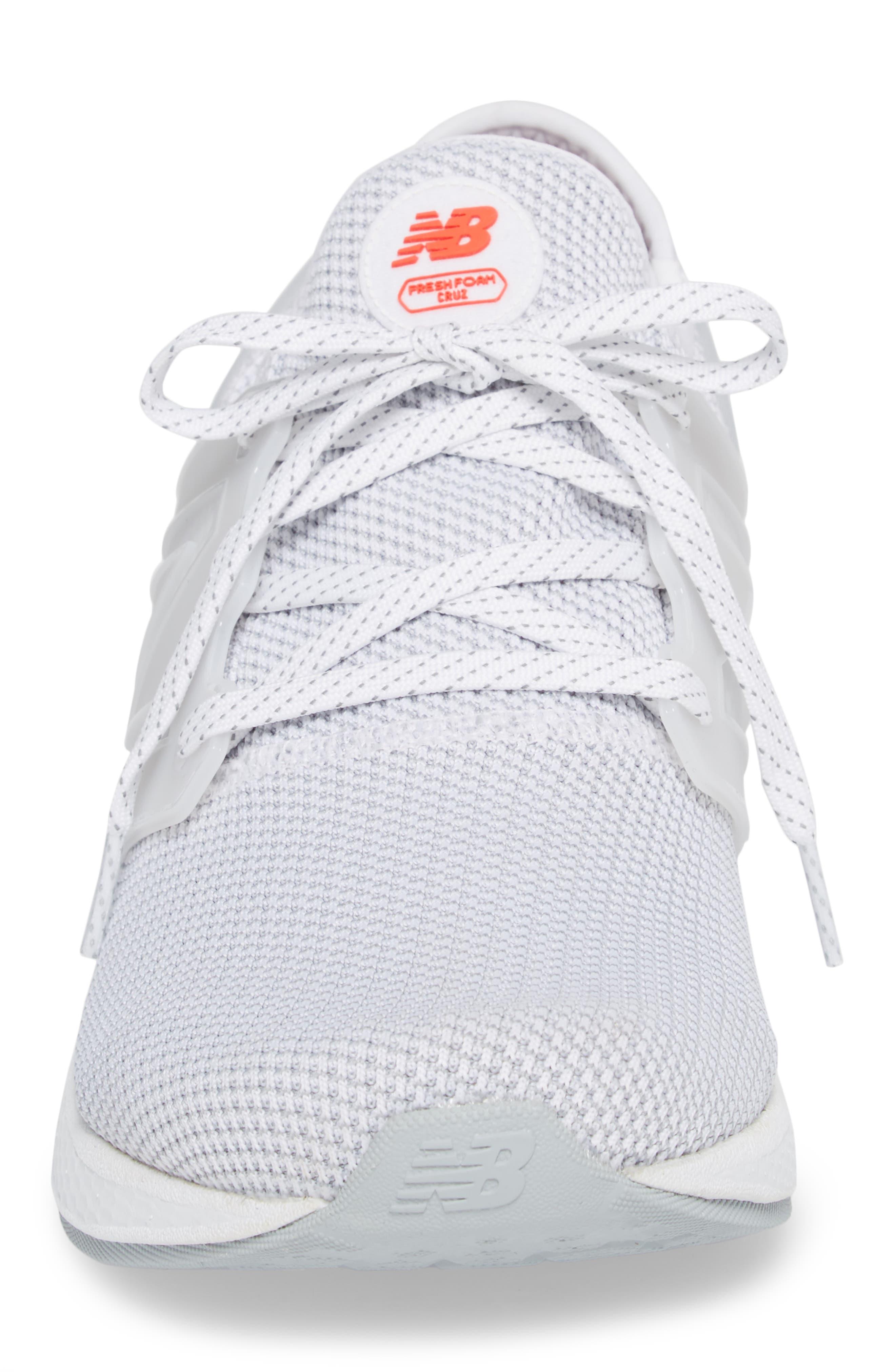 Fresh Foam Cruz v2 Sport Running Shoe,                             Alternate thumbnail 4, color,                             WHITE
