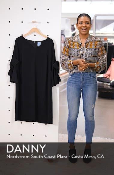 Moss Crepe Bow Shift Dress, sales video thumbnail