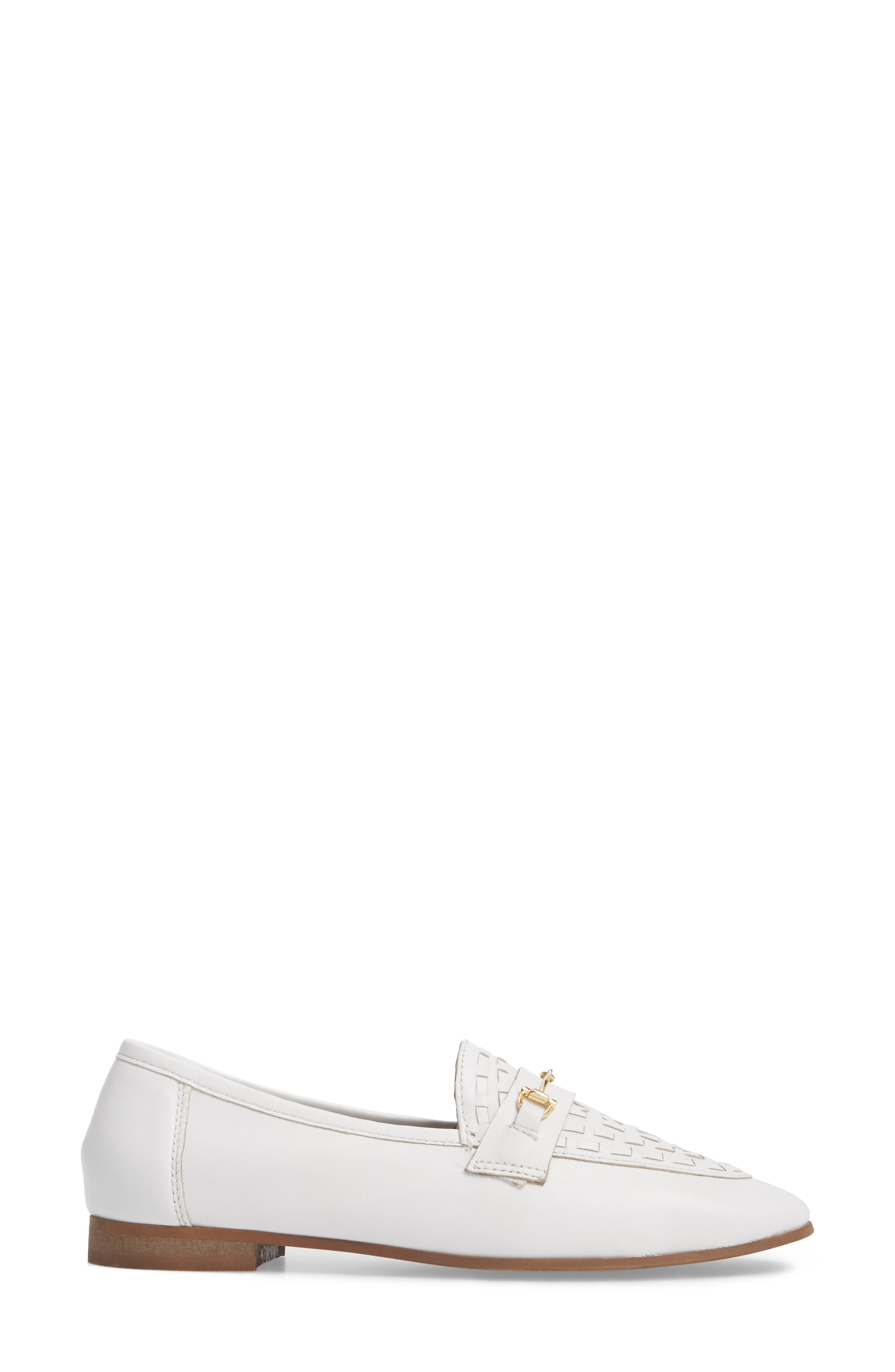 Kingley Woven Loafer,                             Alternate thumbnail 3, color,                             WHITE