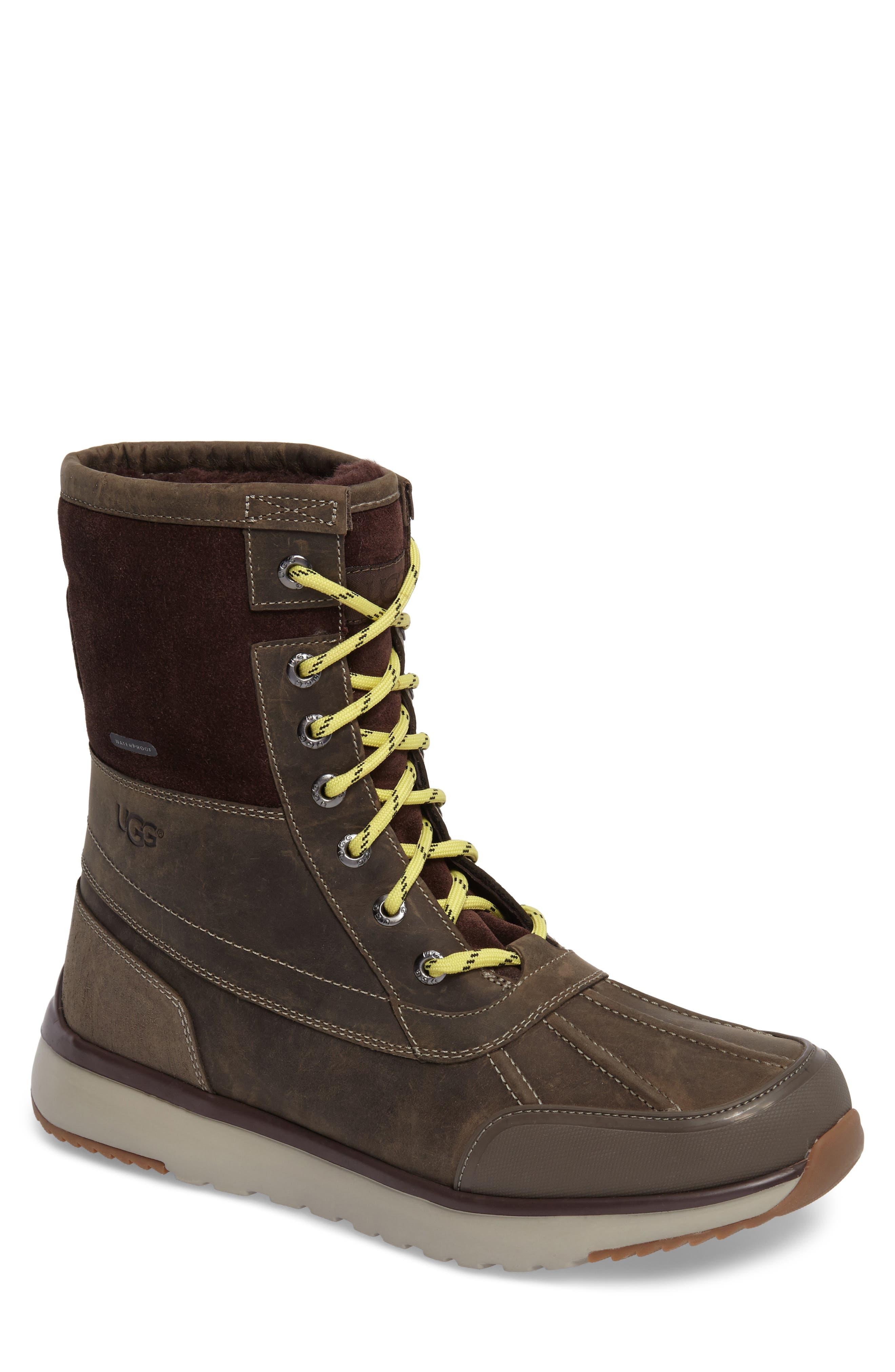 UGG<SUP>®</SUP> Eliasson Waterproof Snow Boot, Main, color, SLATE