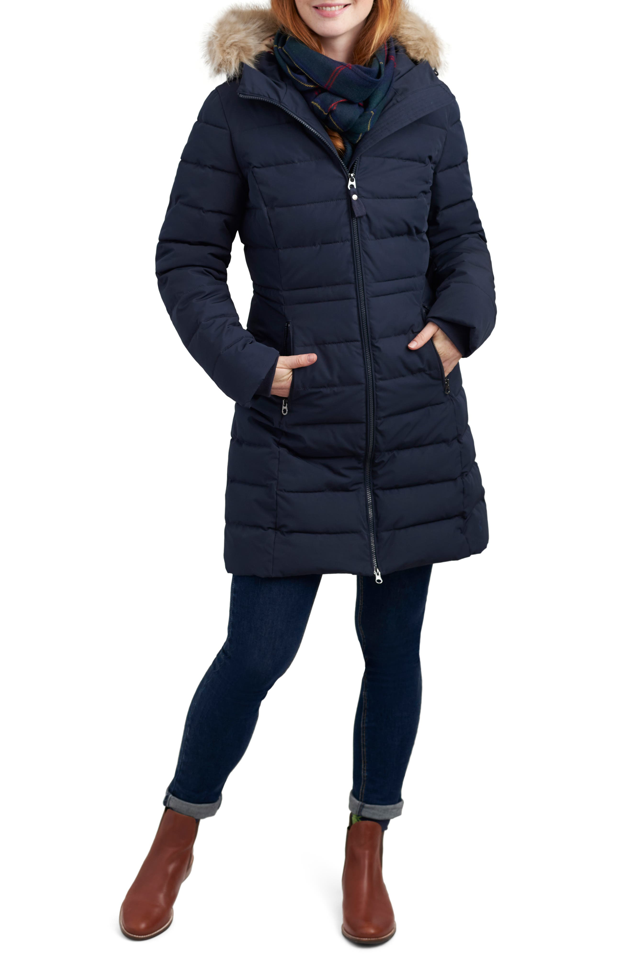 Sefton Longline Padded Jacket,                             Main thumbnail 1, color,                             MARINE NAVY