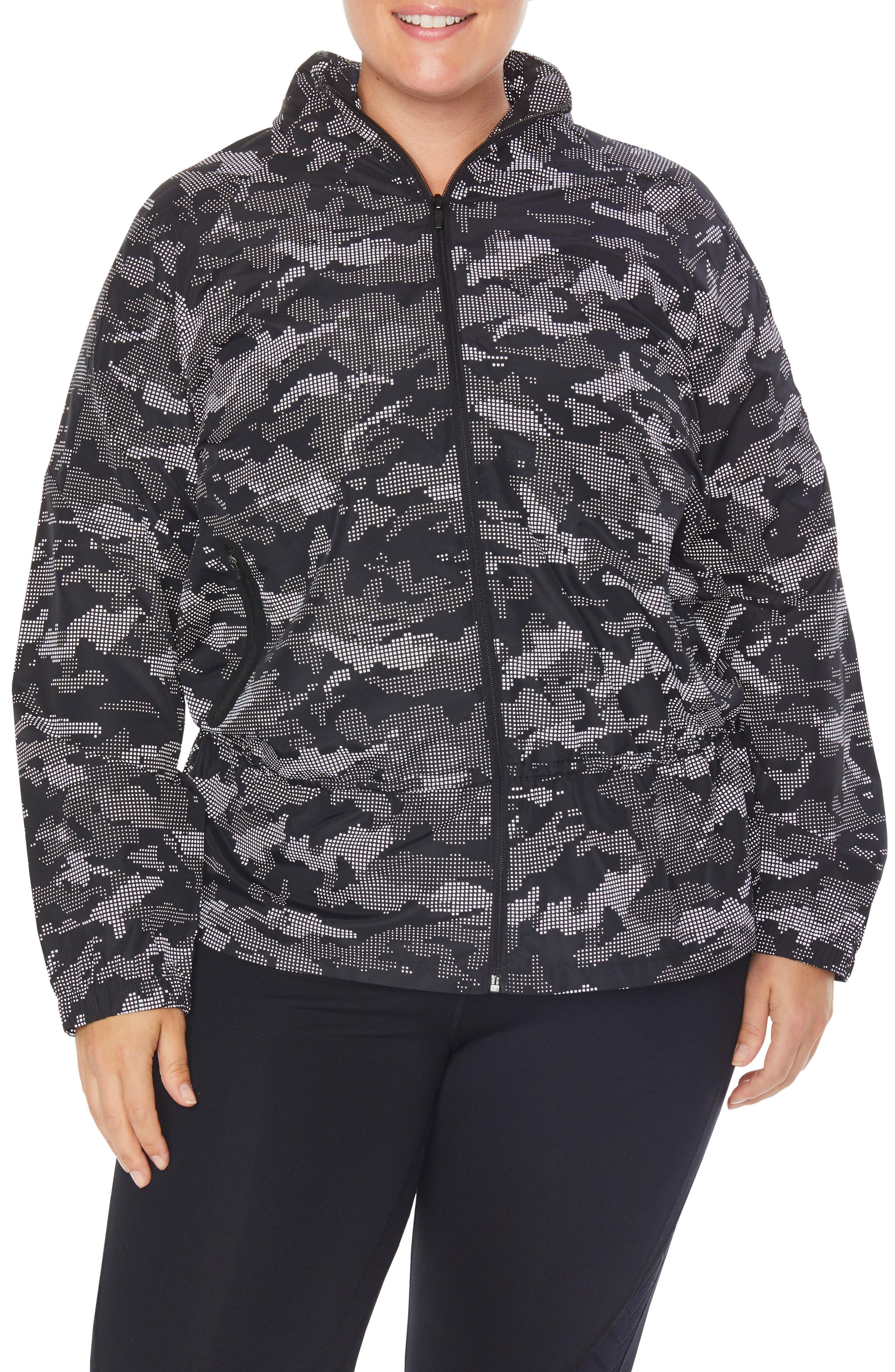 Ghost Windbreaker Jacket,                             Alternate thumbnail 2, color,                             BLACK/ CAMO REFLECTIVE