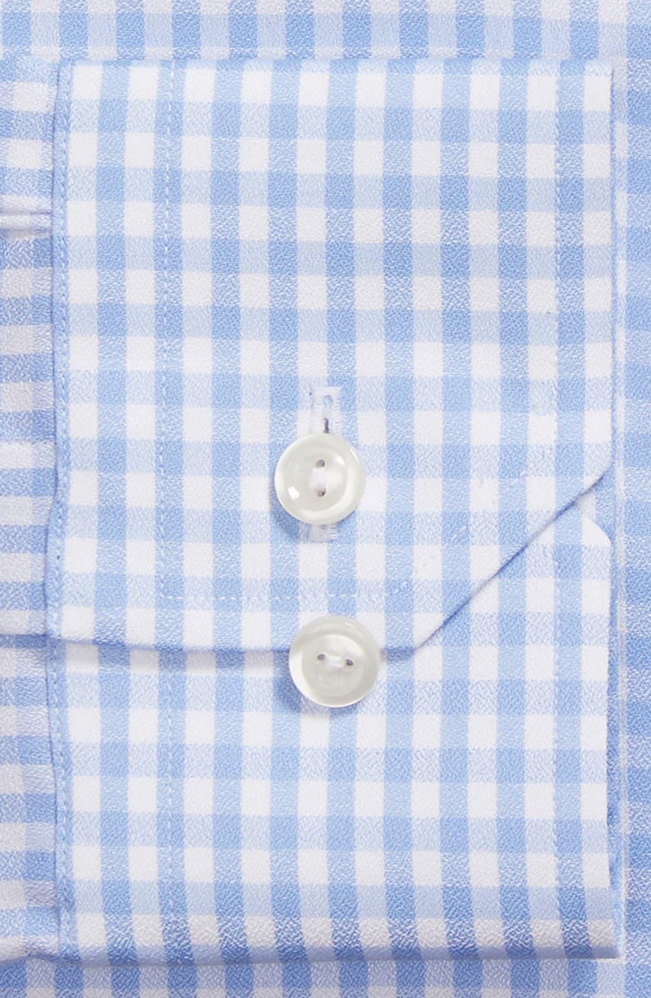 Contemporary Fit Check Dress Shirt,                             Alternate thumbnail 6, color,                             BLUE