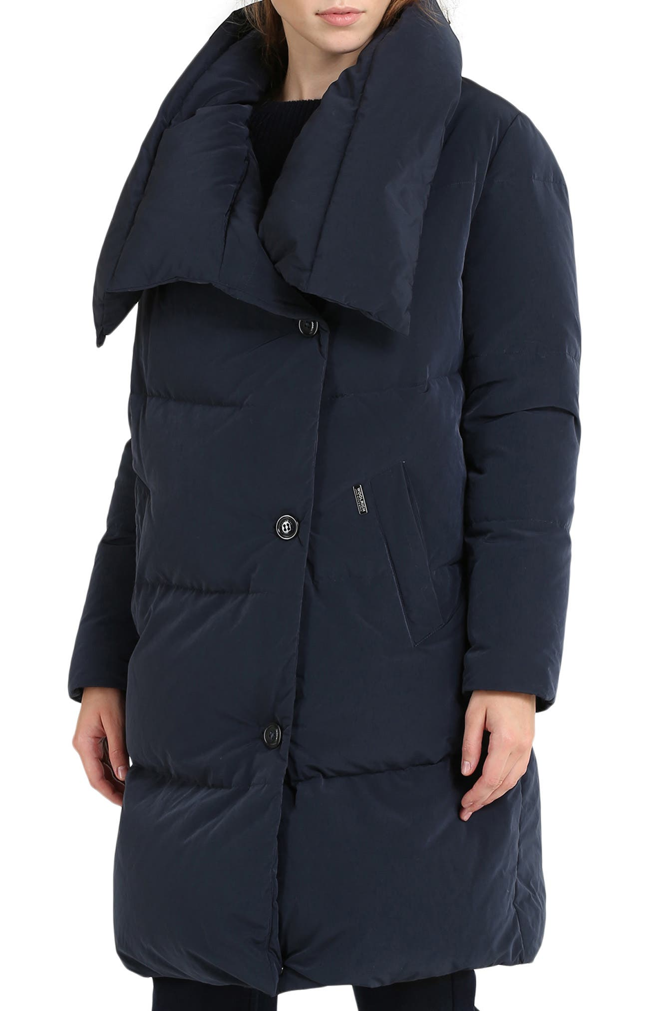 Puffy Down Coat,                         Main,                         color, MELTON BLUE