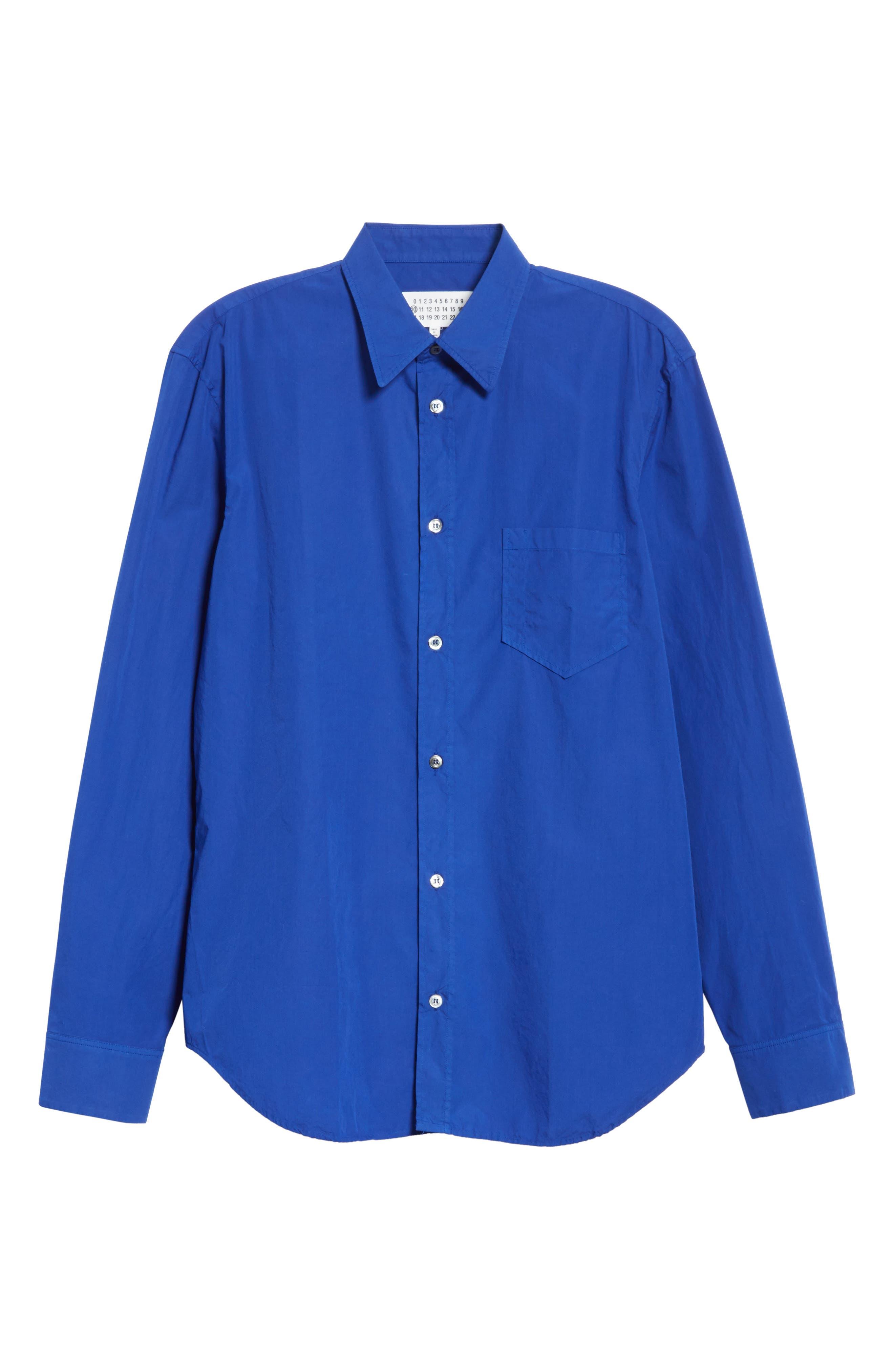 Poplin Shirt,                             Alternate thumbnail 6, color,                             400