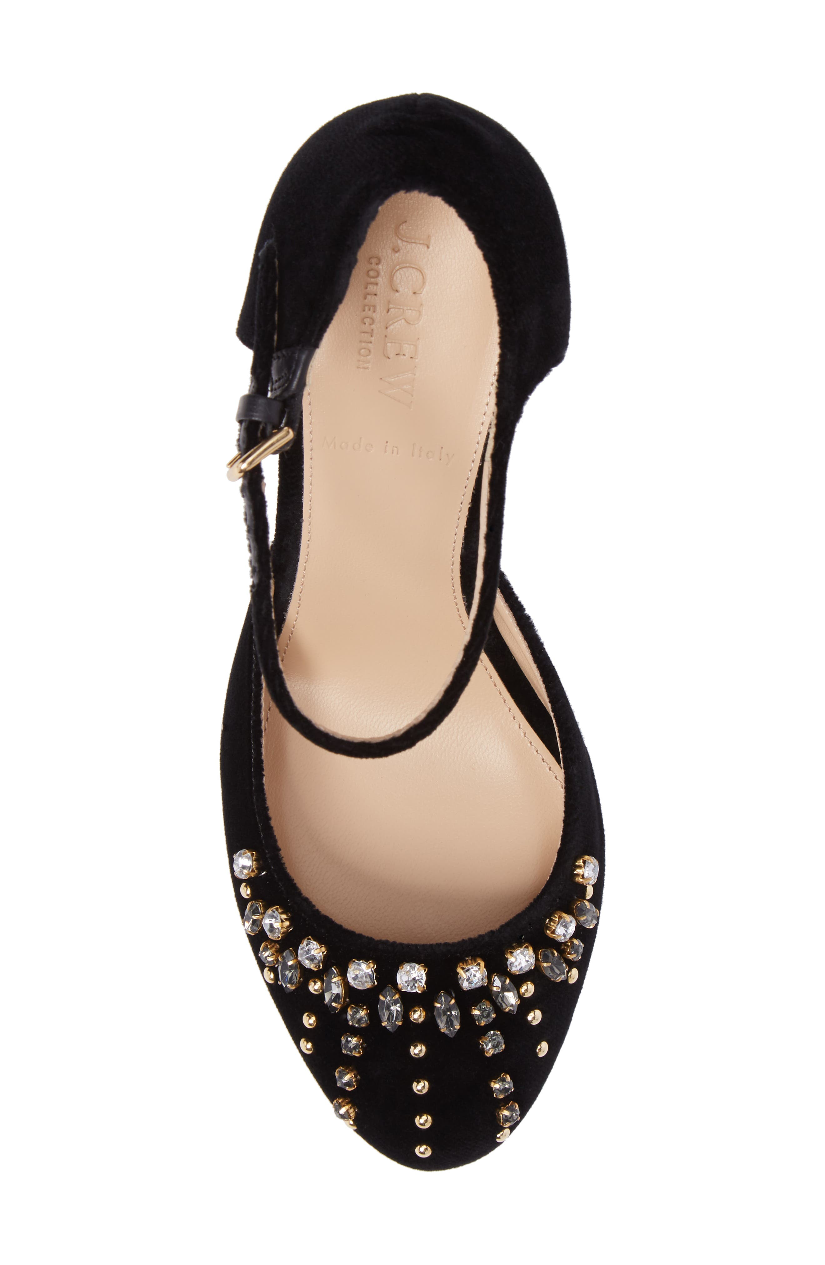 Embellished Mary Jane Pump,                             Alternate thumbnail 5, color,                             001