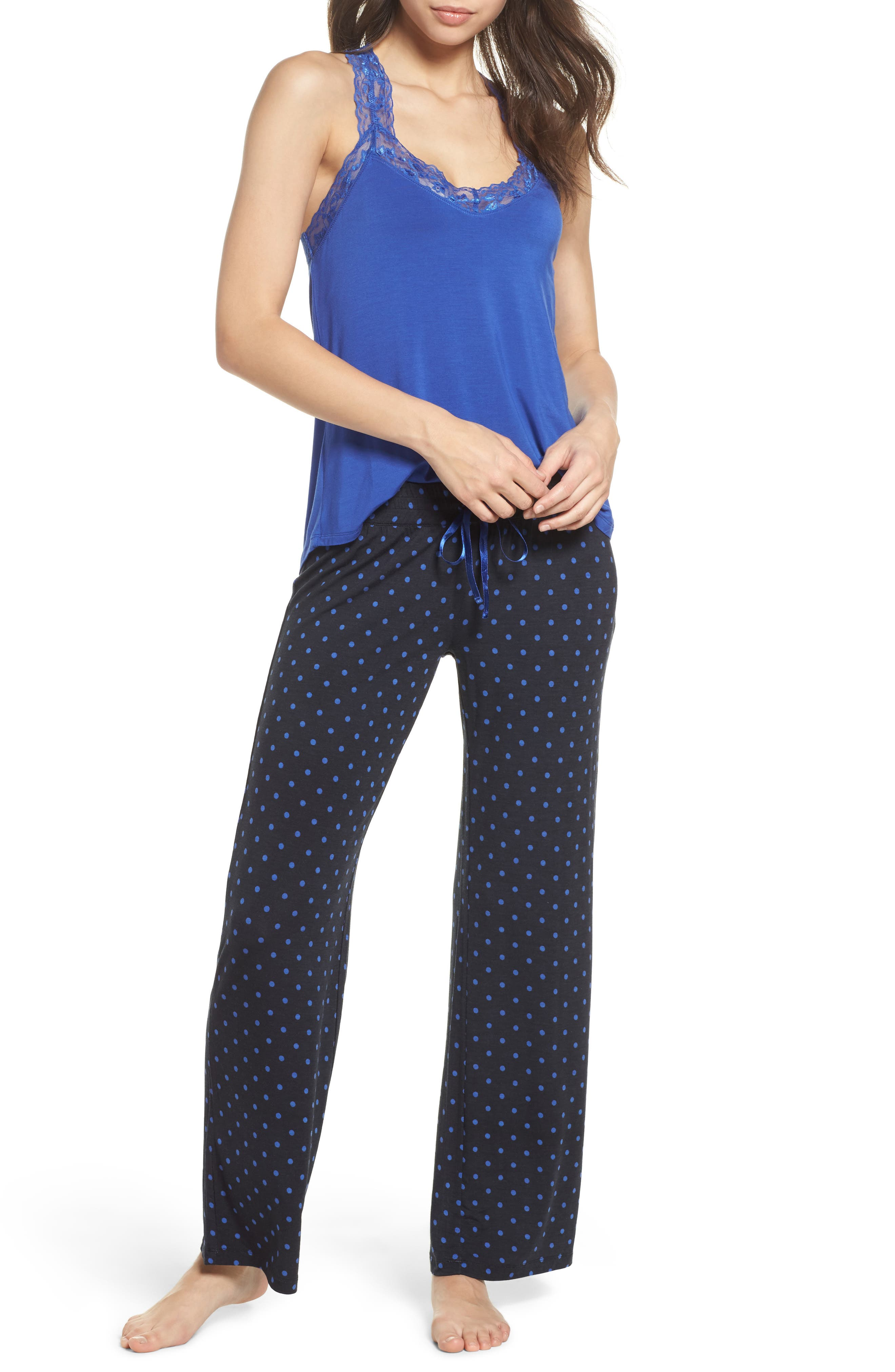 Dot Lounge Pants,                             Alternate thumbnail 7, color,                             400