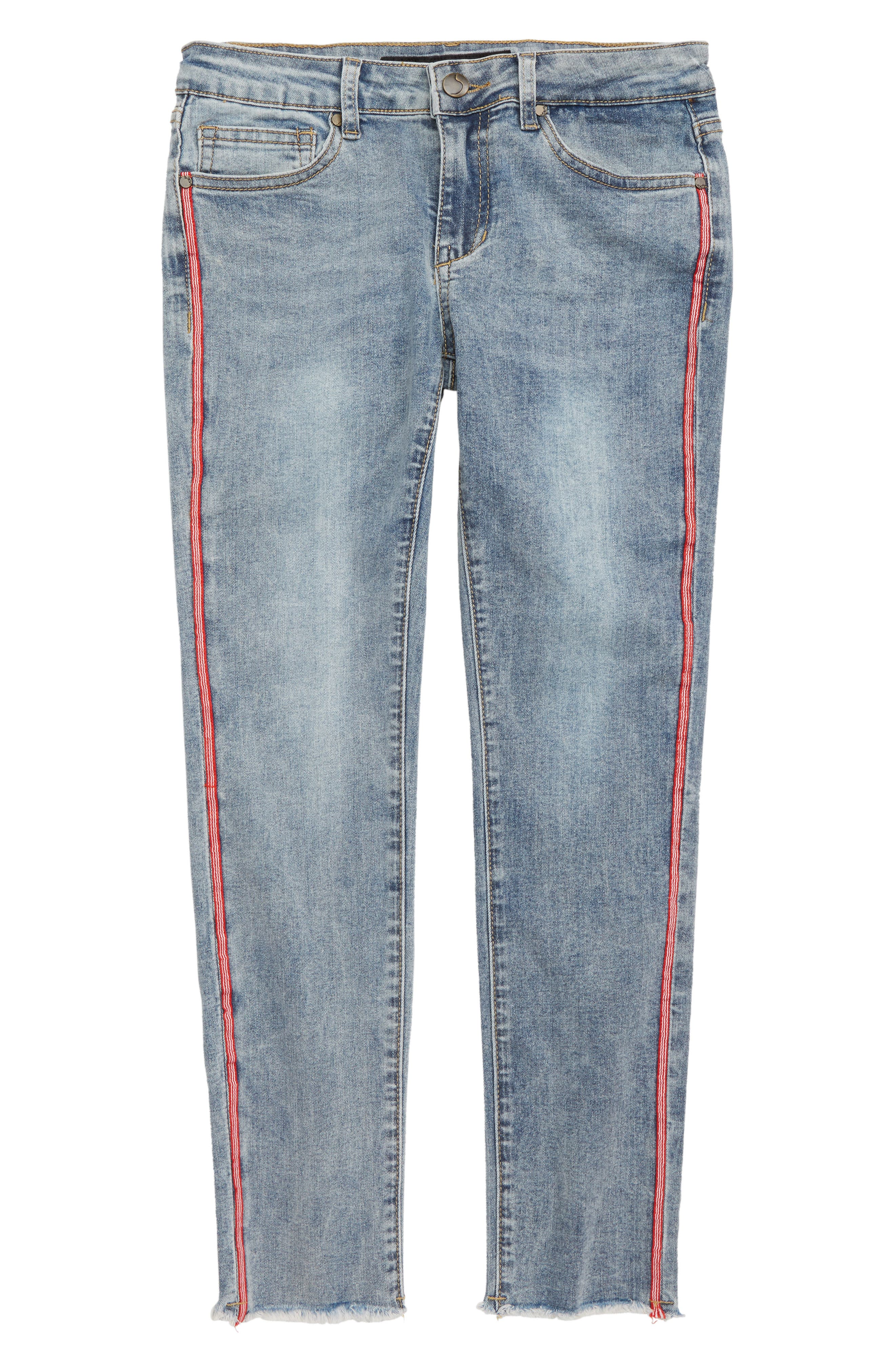 The Markie Tape Skinny Ankle Jeans,                             Main thumbnail 1, color,                             SHANE