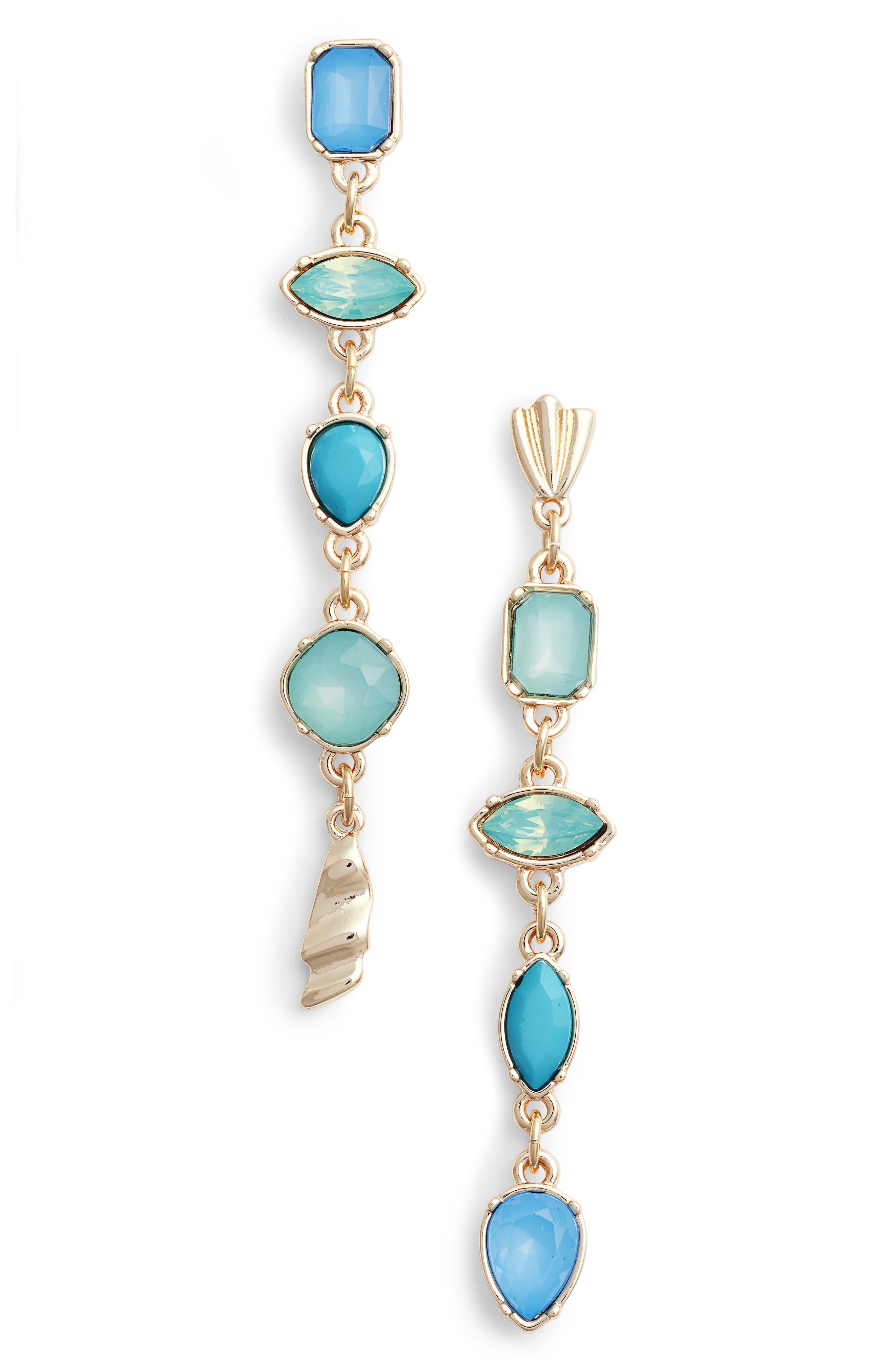 Mix Shape Stone Drop Earrings,                             Main thumbnail 2, color,