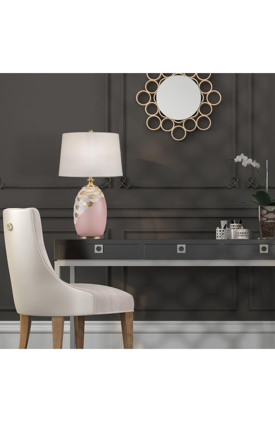 JAlexander Rose Quartz Table Lamp with Faux Leather & Brass Accents,                             Alternate thumbnail 2, color,                             650