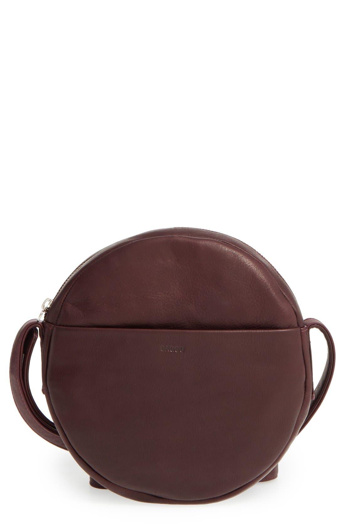 Pebbled Leather Crossbody Bag,                             Main thumbnail 5, color,