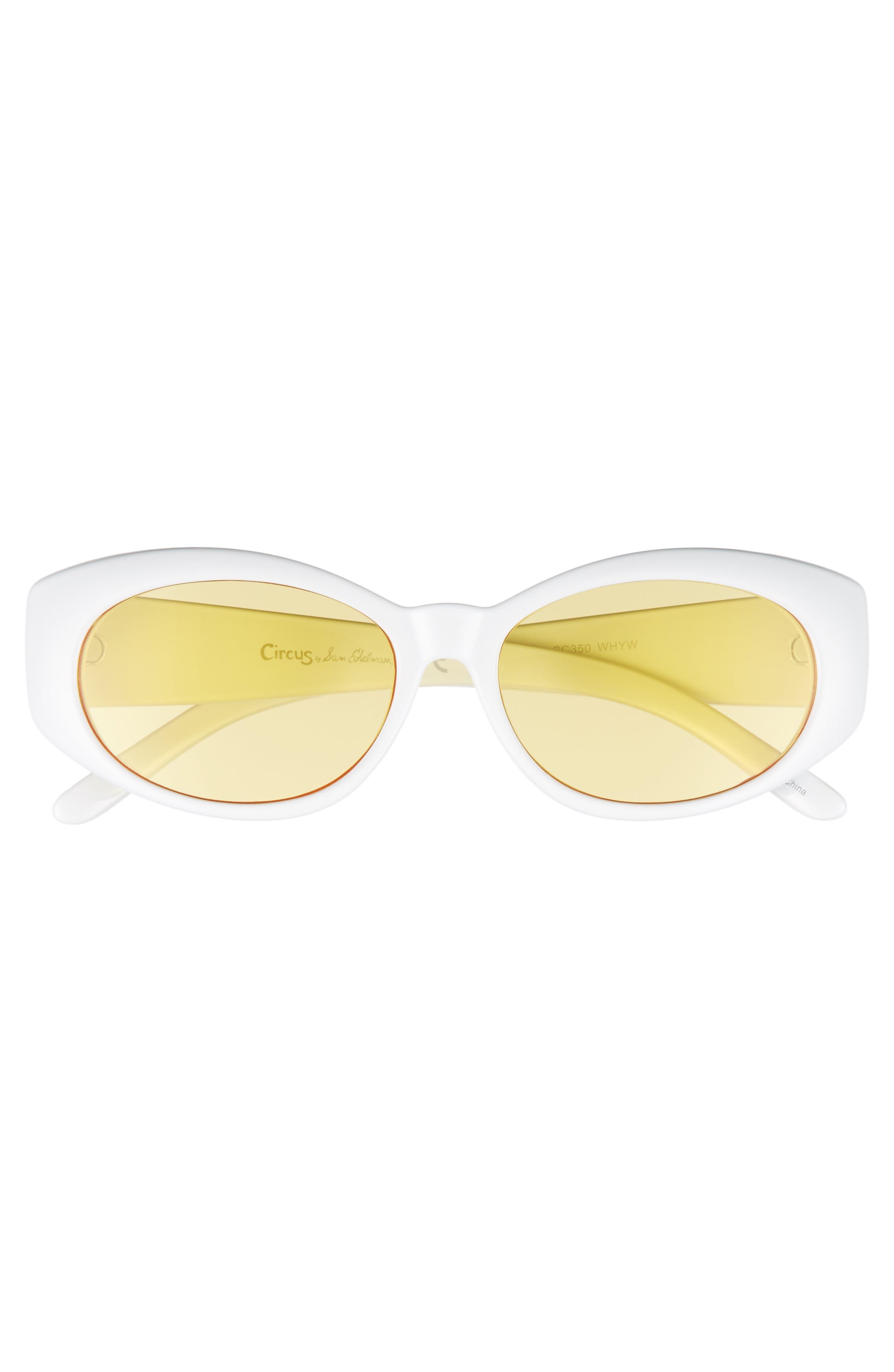 68mm Oval Sunglasses,                             Alternate thumbnail 3, color,                             102