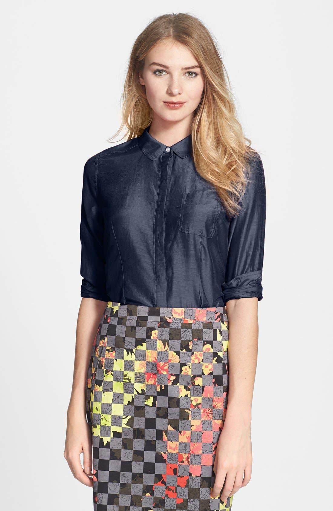 Cotton & Silk Shirt,                             Main thumbnail 21, color,