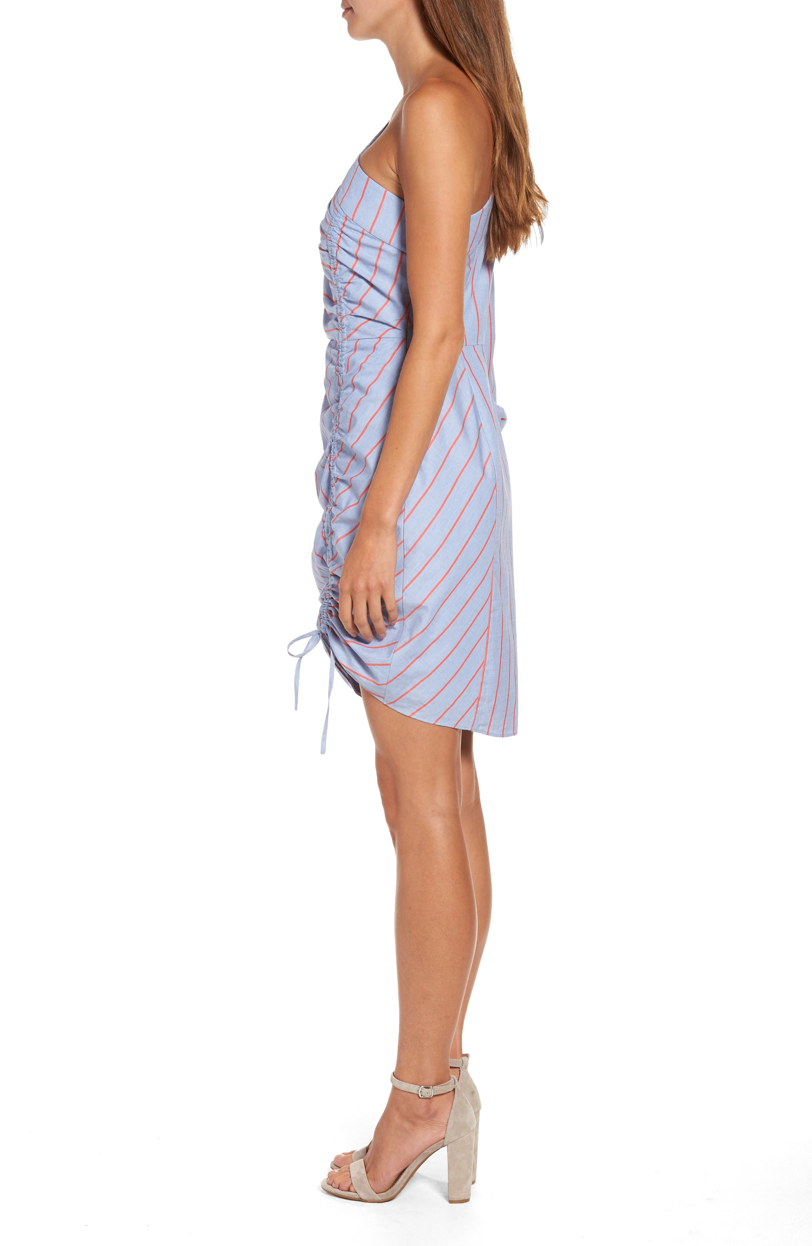 Harmond One-Shoulder Dress,                             Alternate thumbnail 3, color,                             421