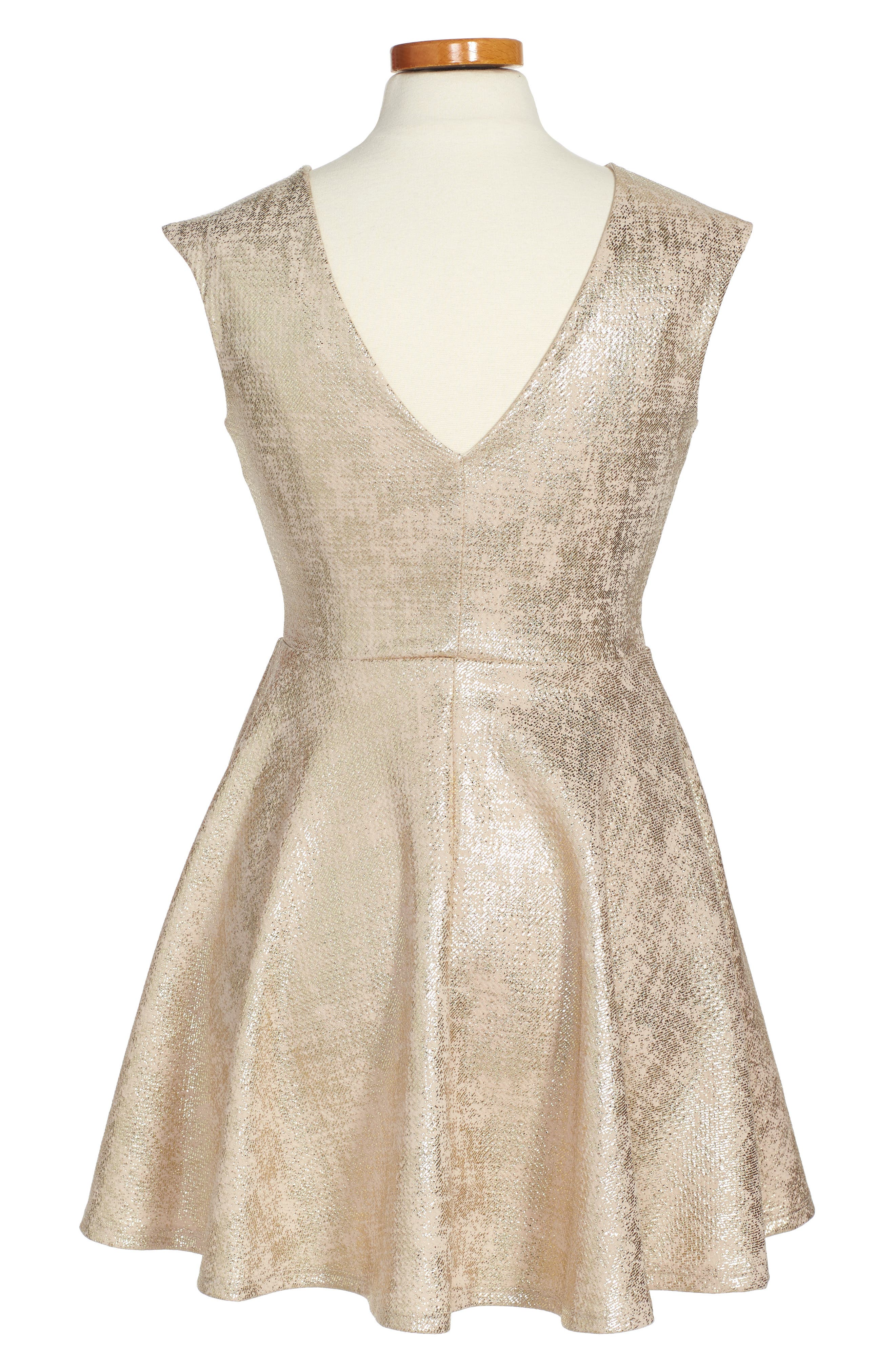 Cap Sleeve Party Dress,                             Alternate thumbnail 2, color,                             710