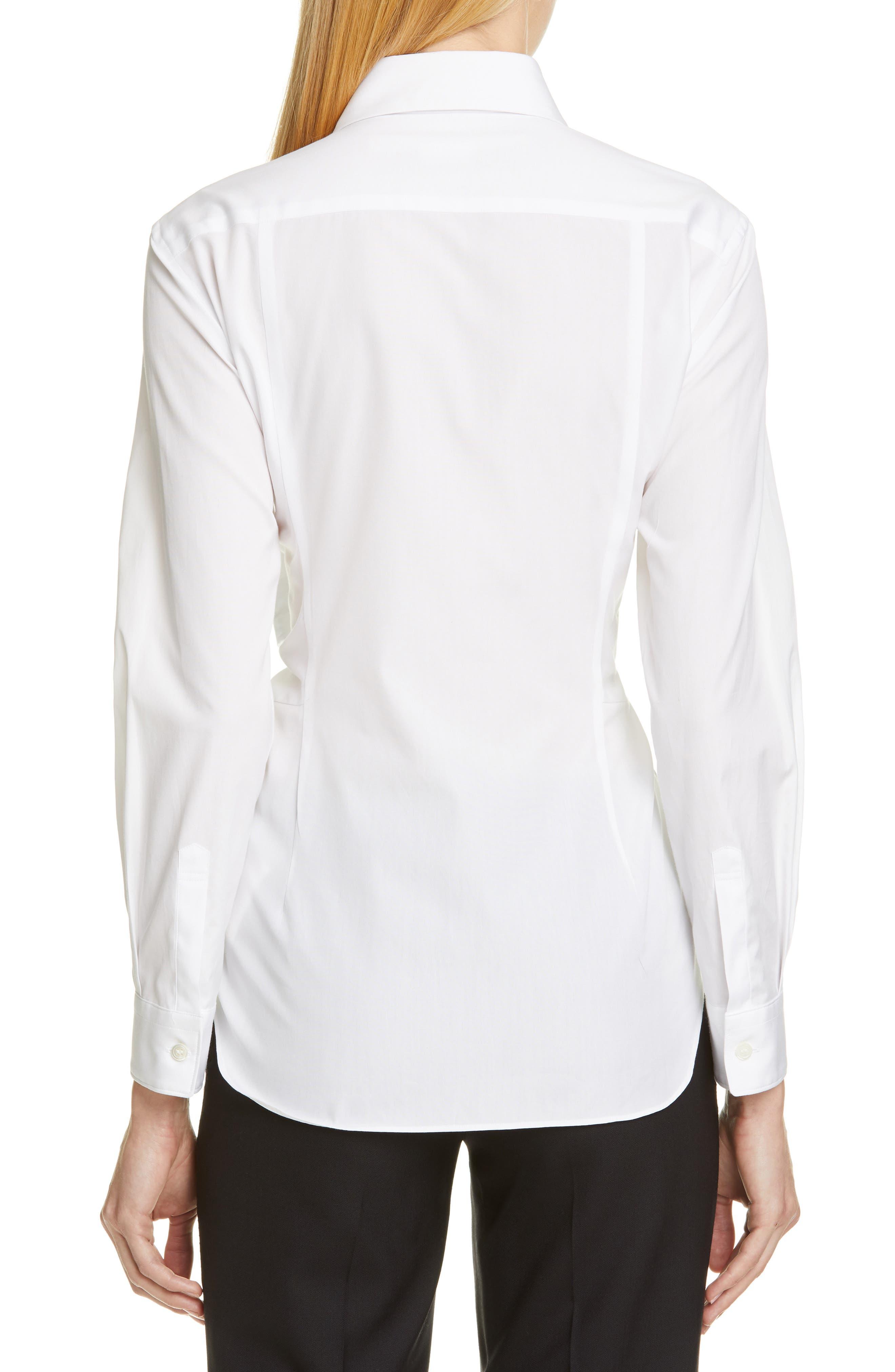 COMME DES GARÇONS,                             Tie Front Shirt,                             Alternate thumbnail 2, color,                             WHITE