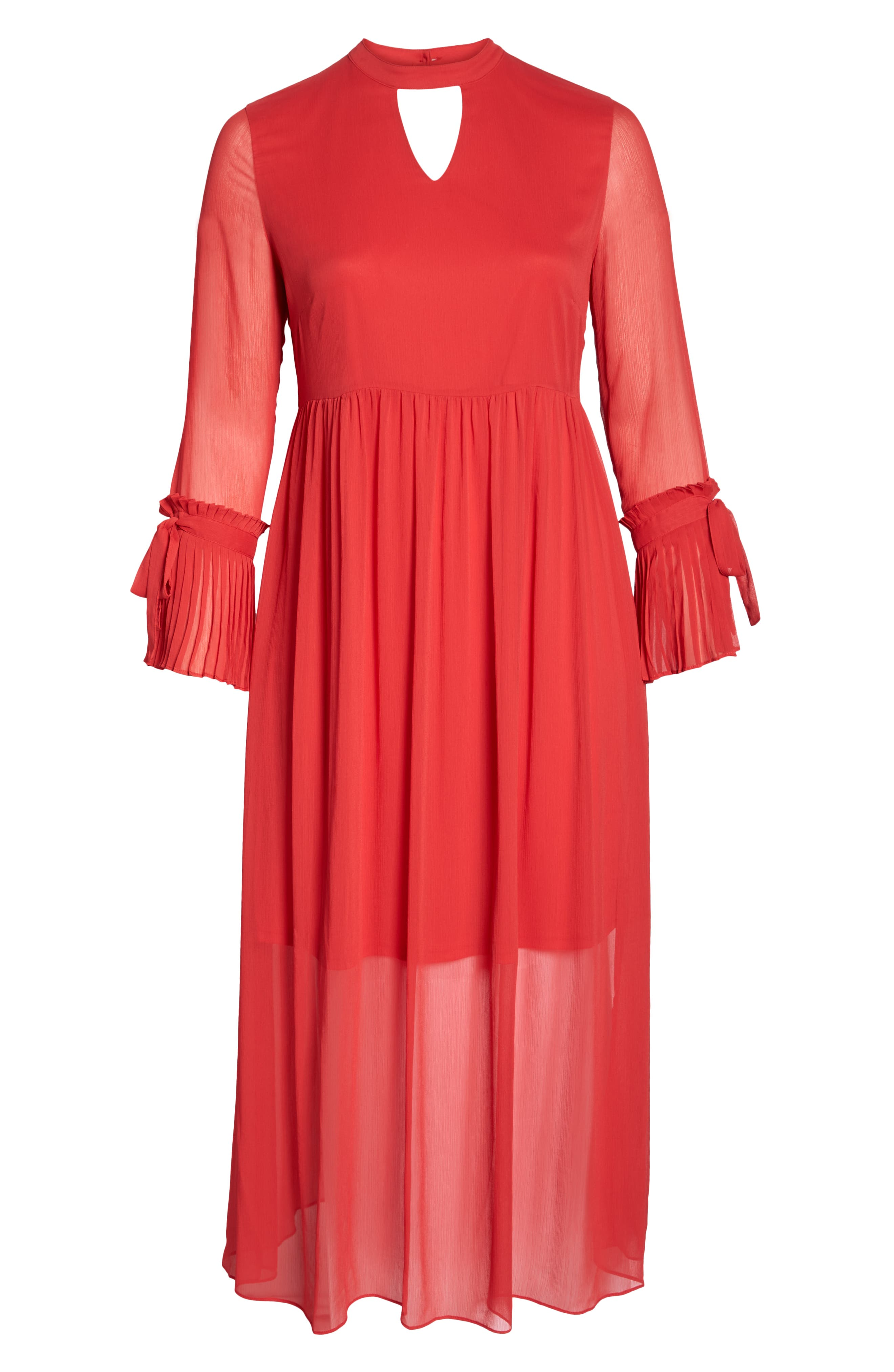 Pleated Maxi Dress,                             Alternate thumbnail 7, color,                             PINK