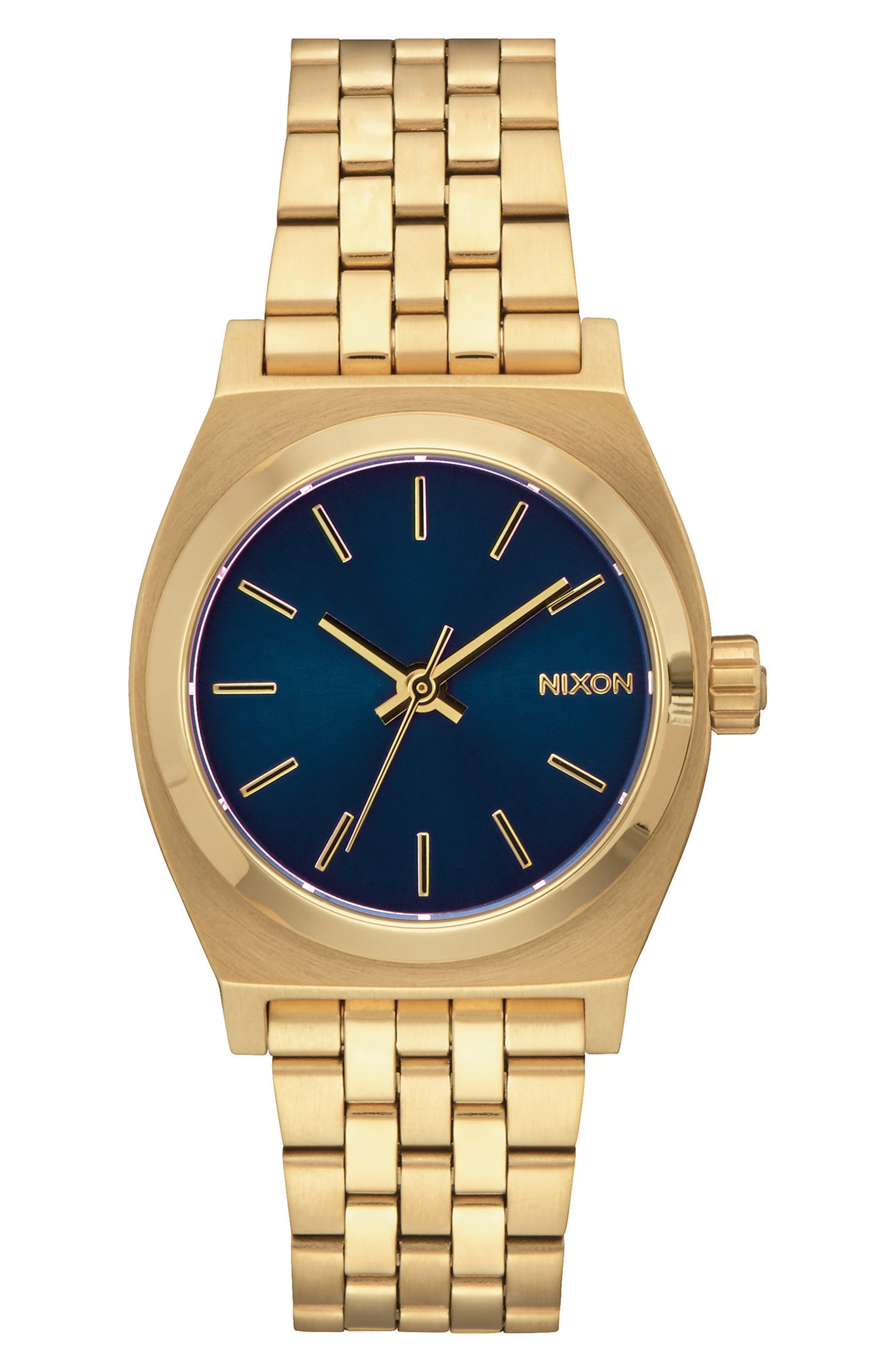 Time Teller Bracelet Watch, 31mm,                             Main thumbnail 1, color,                             GOLD/ COBALT/ GOLD