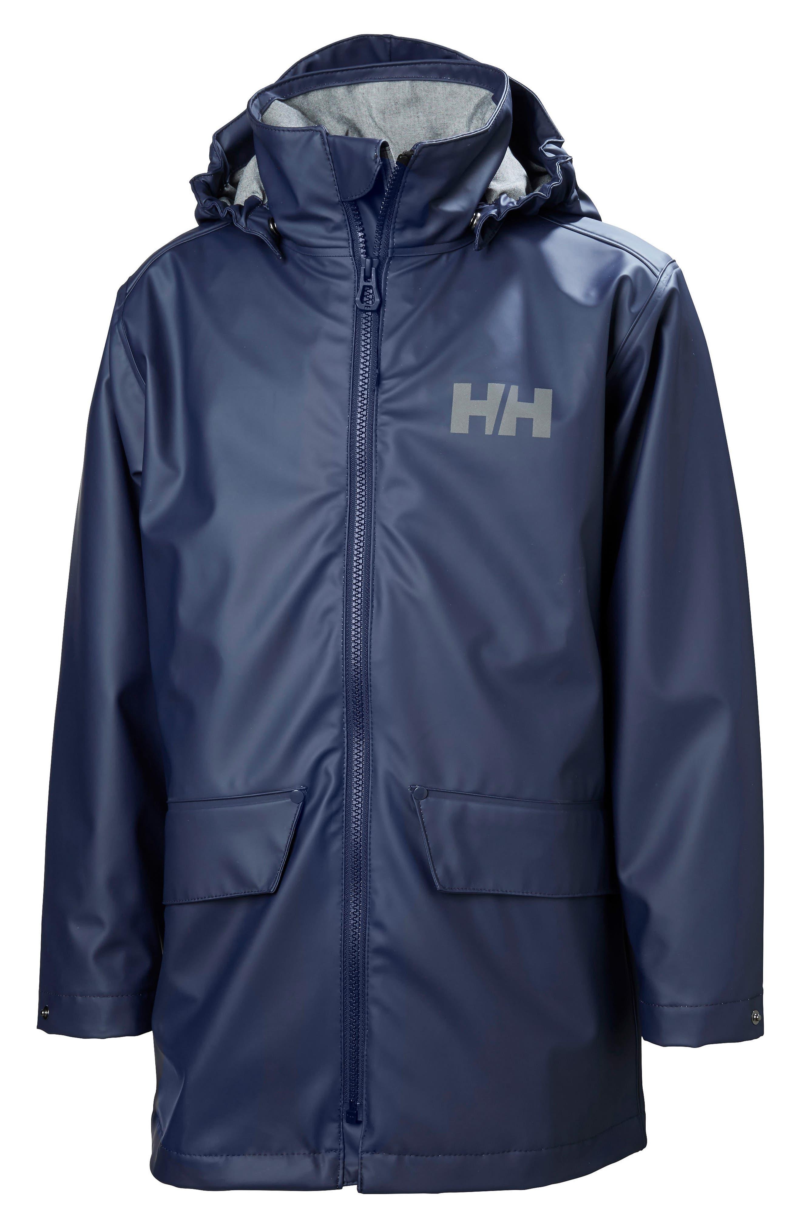 HELLY HANSEN Skudenes Waterproof & Windproof Hooded Jacket, Main, color, 400