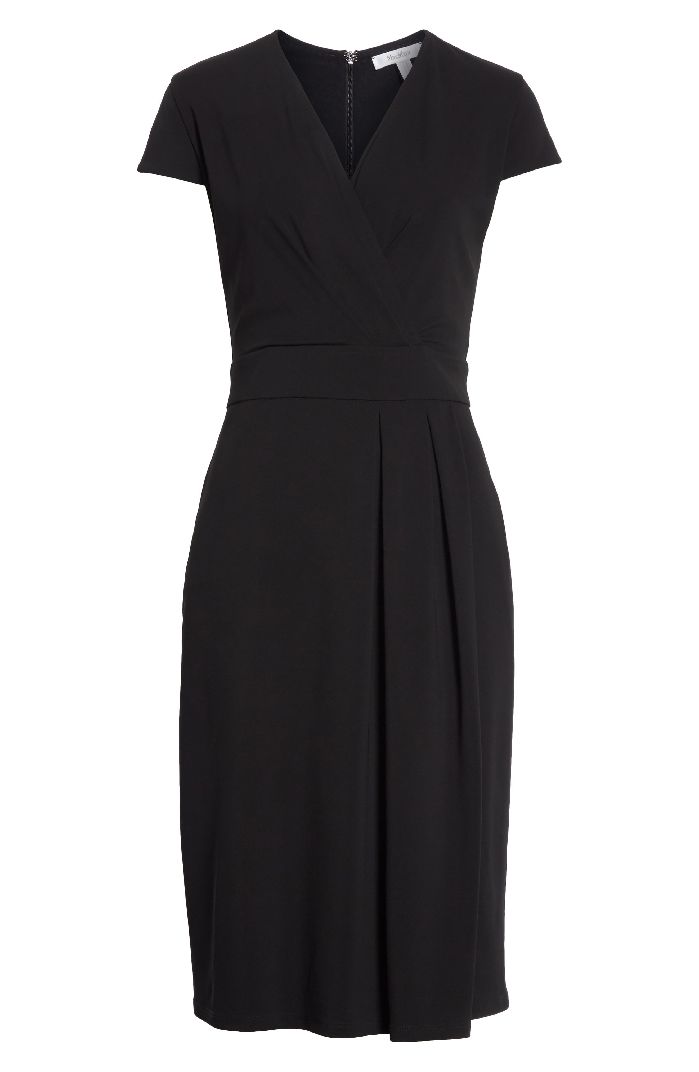 Feluca Surplice Dress,                             Alternate thumbnail 6, color,                             001