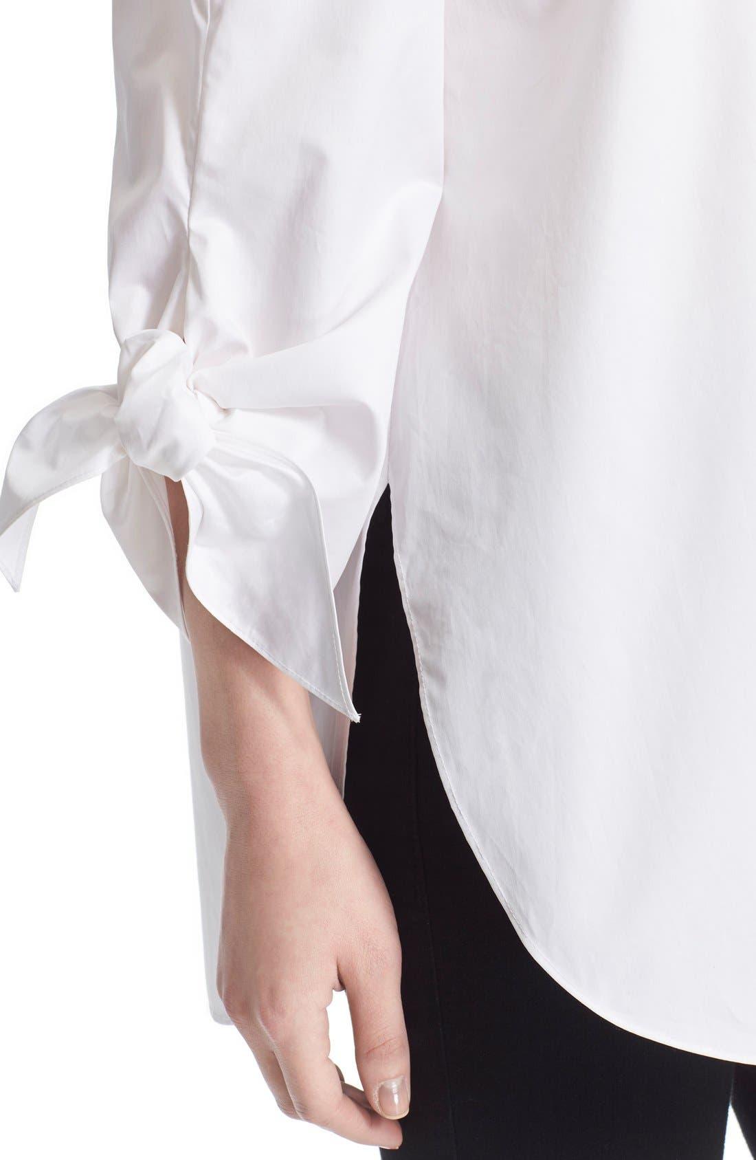 Off the Shoulder Cotton Tunic,                             Alternate thumbnail 4, color,                             101