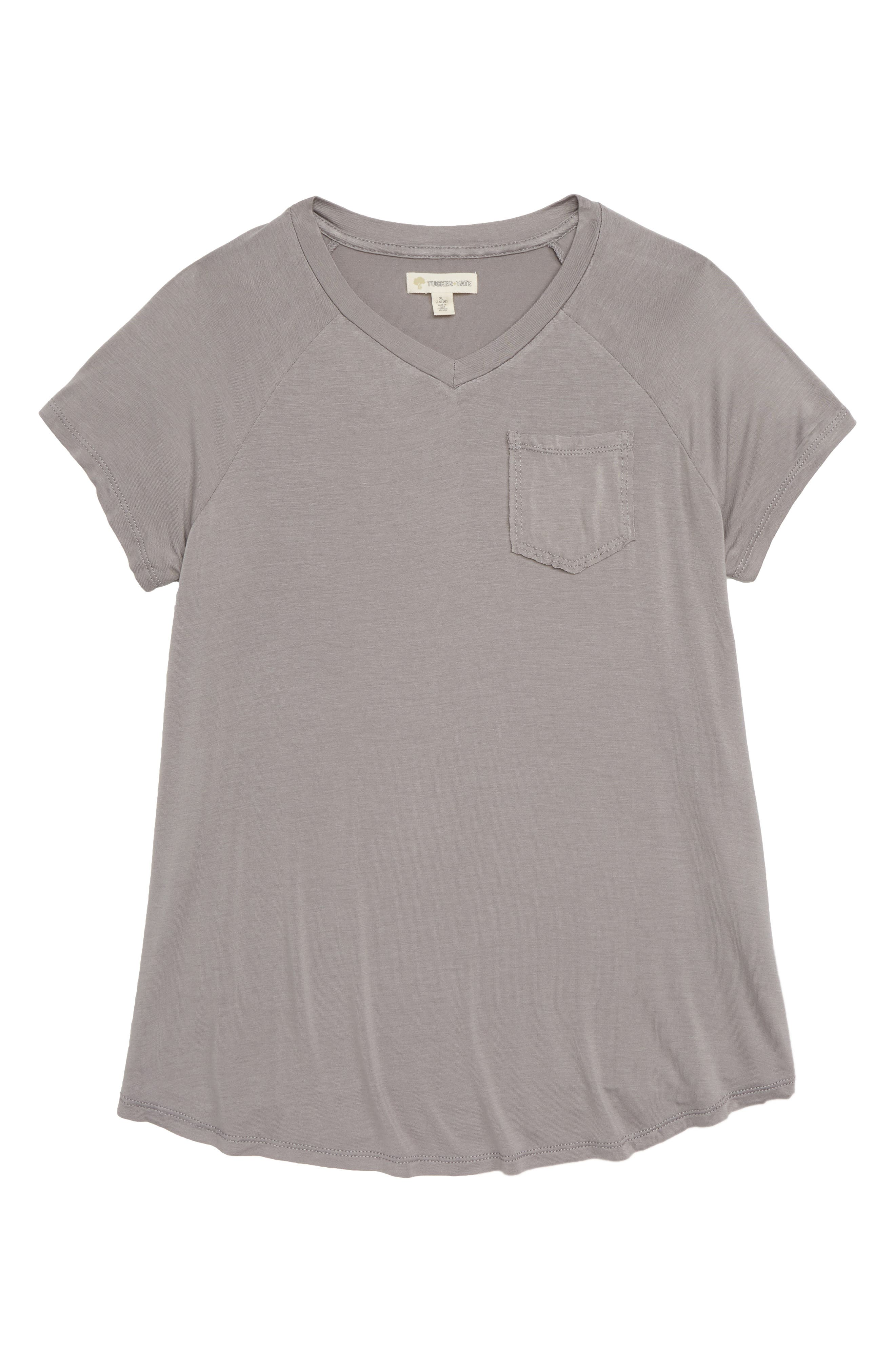 Super Soft V-Neck Tee,                             Main thumbnail 1, color,                             030