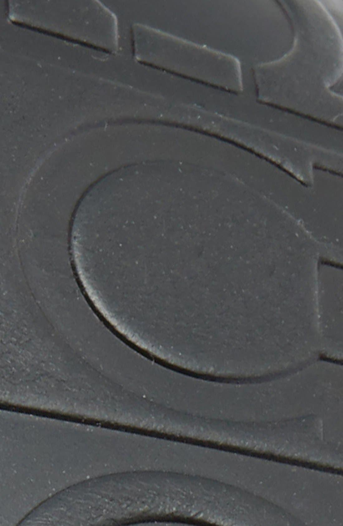 Calfskin Leather Belt,                             Alternate thumbnail 3, color,                             NERO