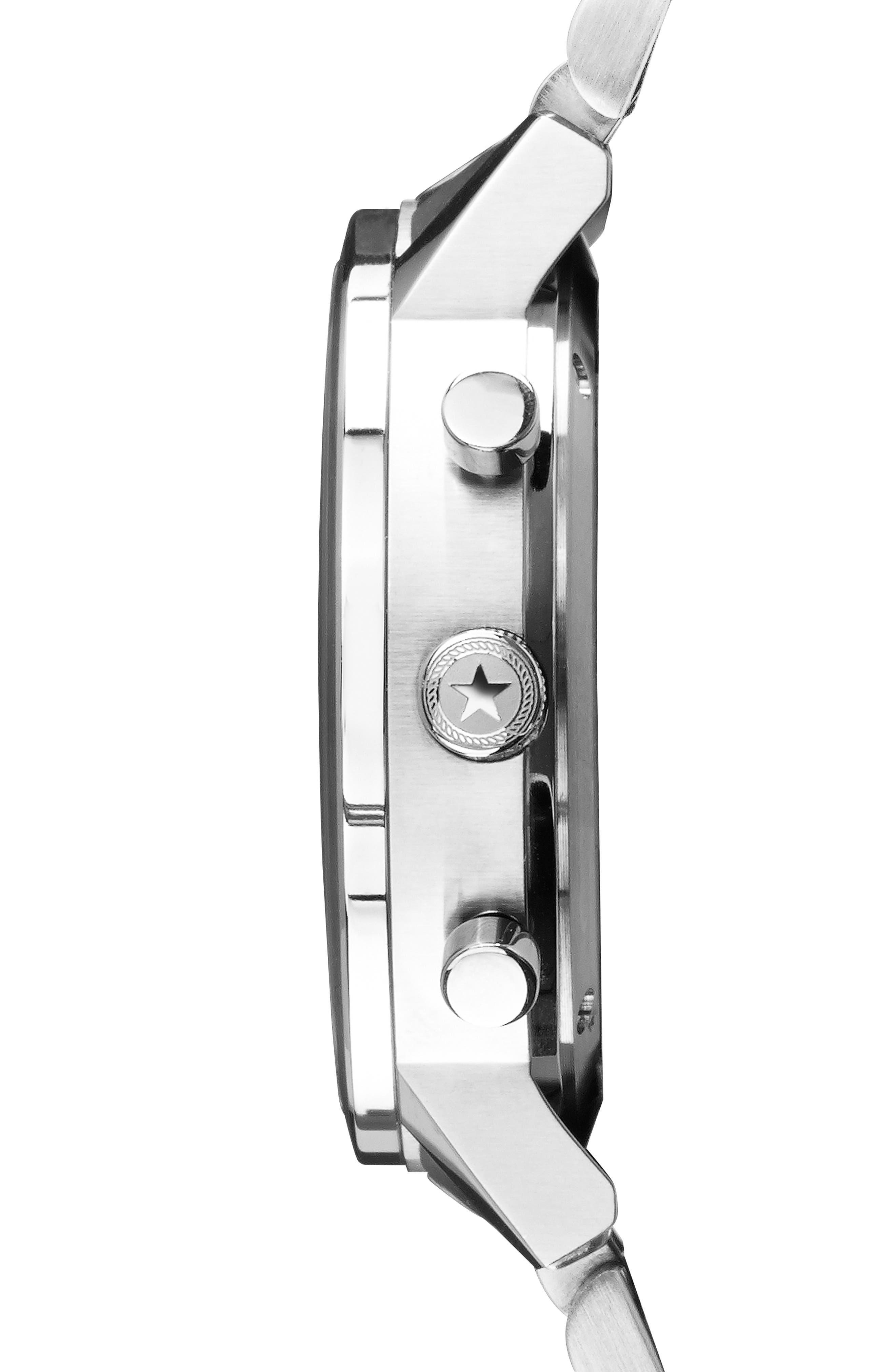 JACK MASON,                             Racing Chronograph Bracelet Watch, 40mm,                             Alternate thumbnail 3, color,                             WHITE/ SILVER