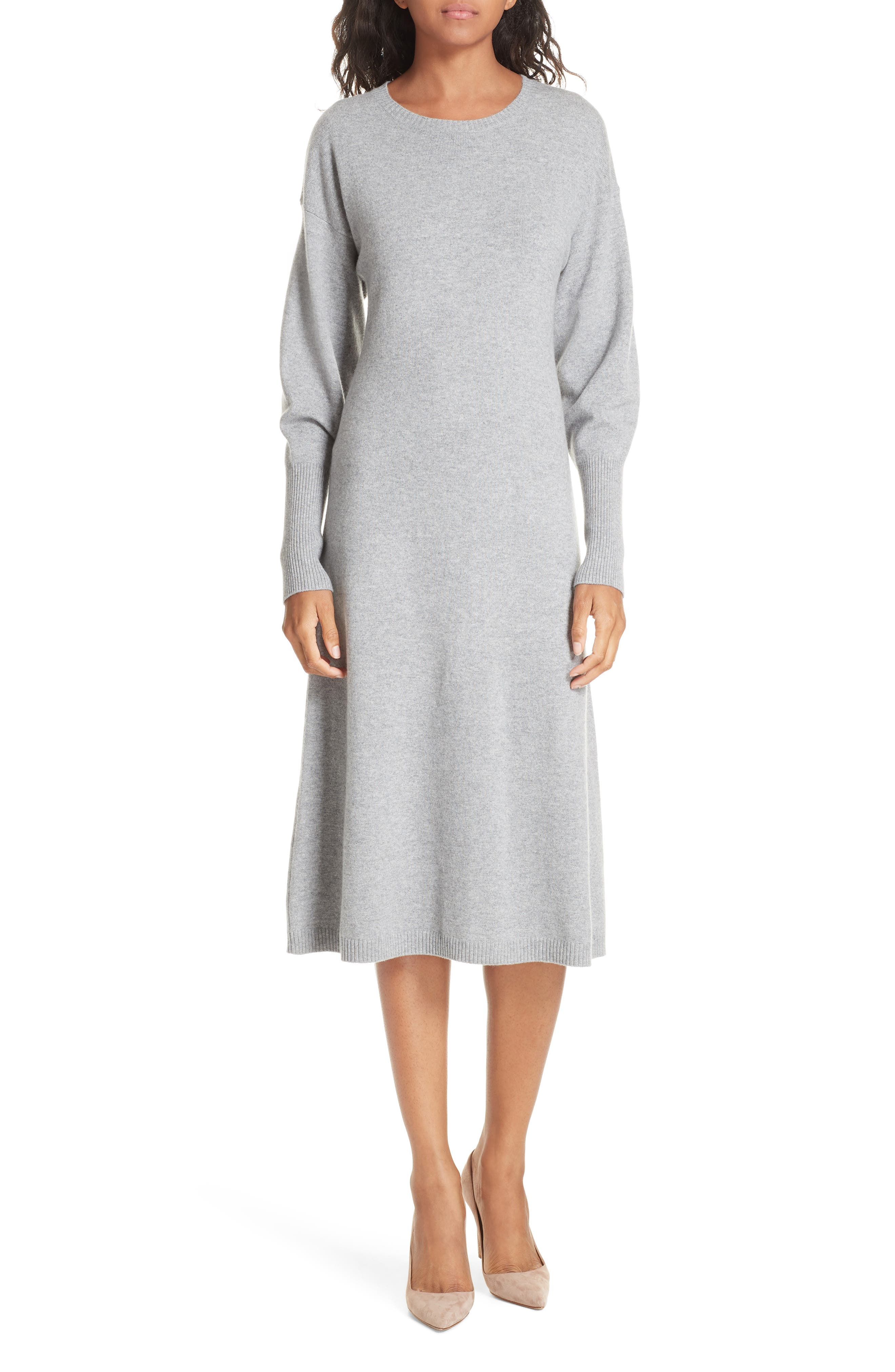 Cashmere Blend Sweater Dress,                             Main thumbnail 1, color,                             030