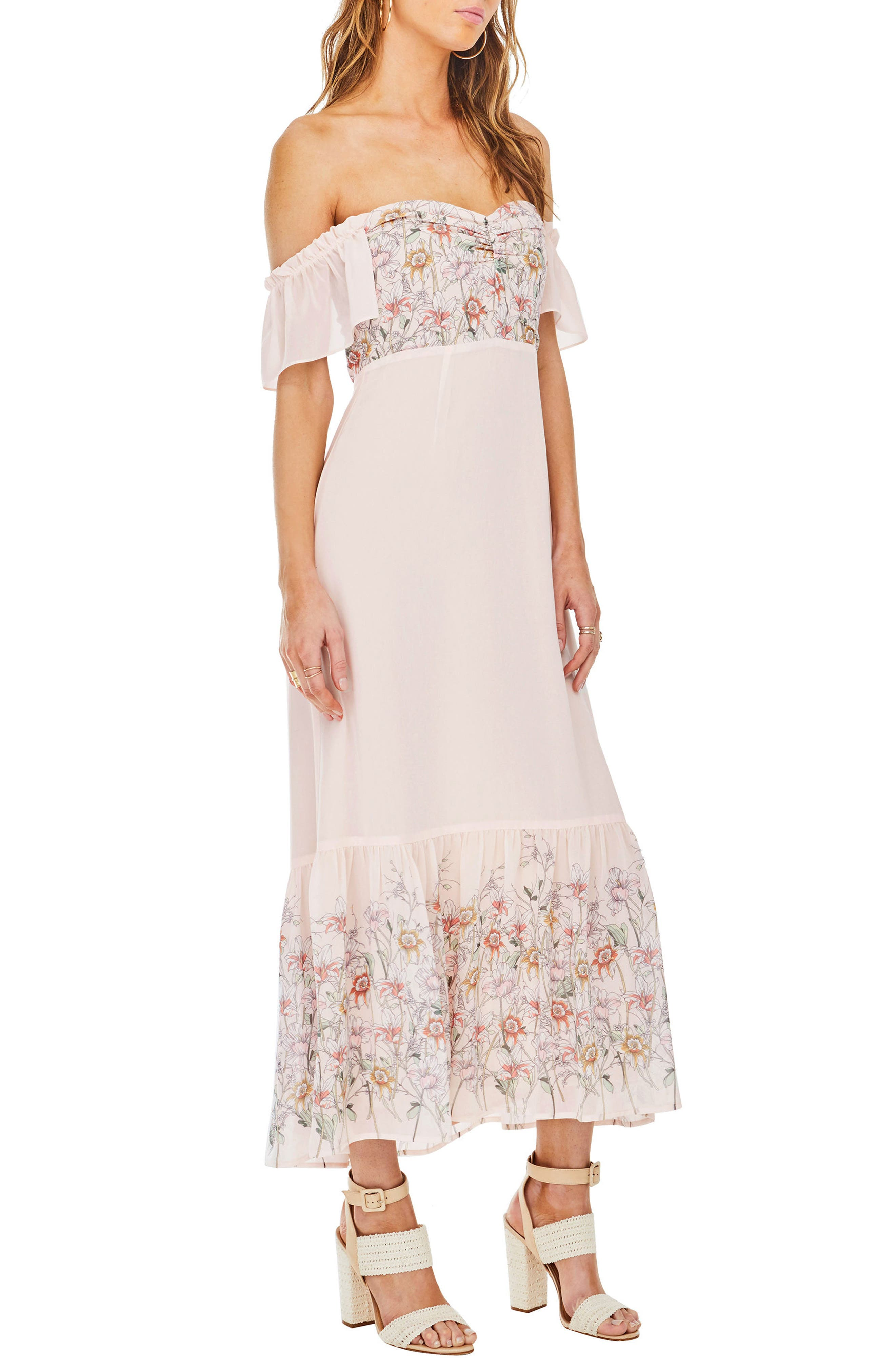 Angelina Off the Shoulder Maxi Dress,                             Alternate thumbnail 3, color,                             650